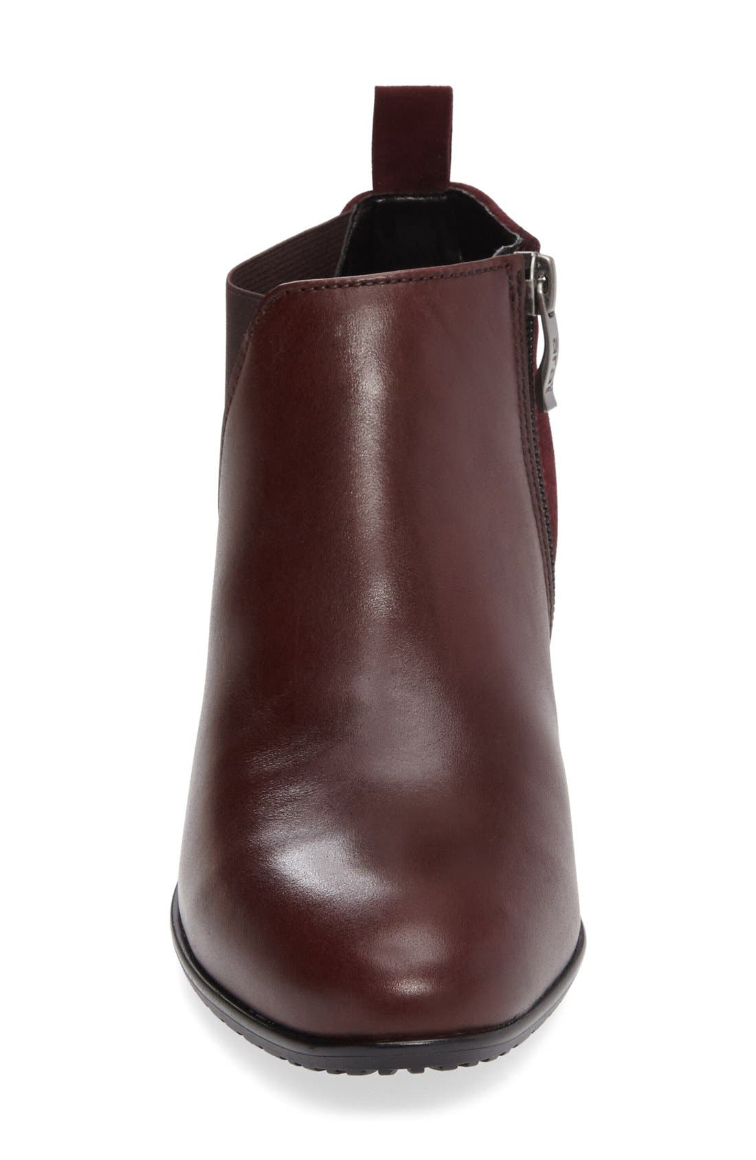 'Patty' Block Heel Boot,                             Alternate thumbnail 7, color,                             BURGUNDY LEATHER
