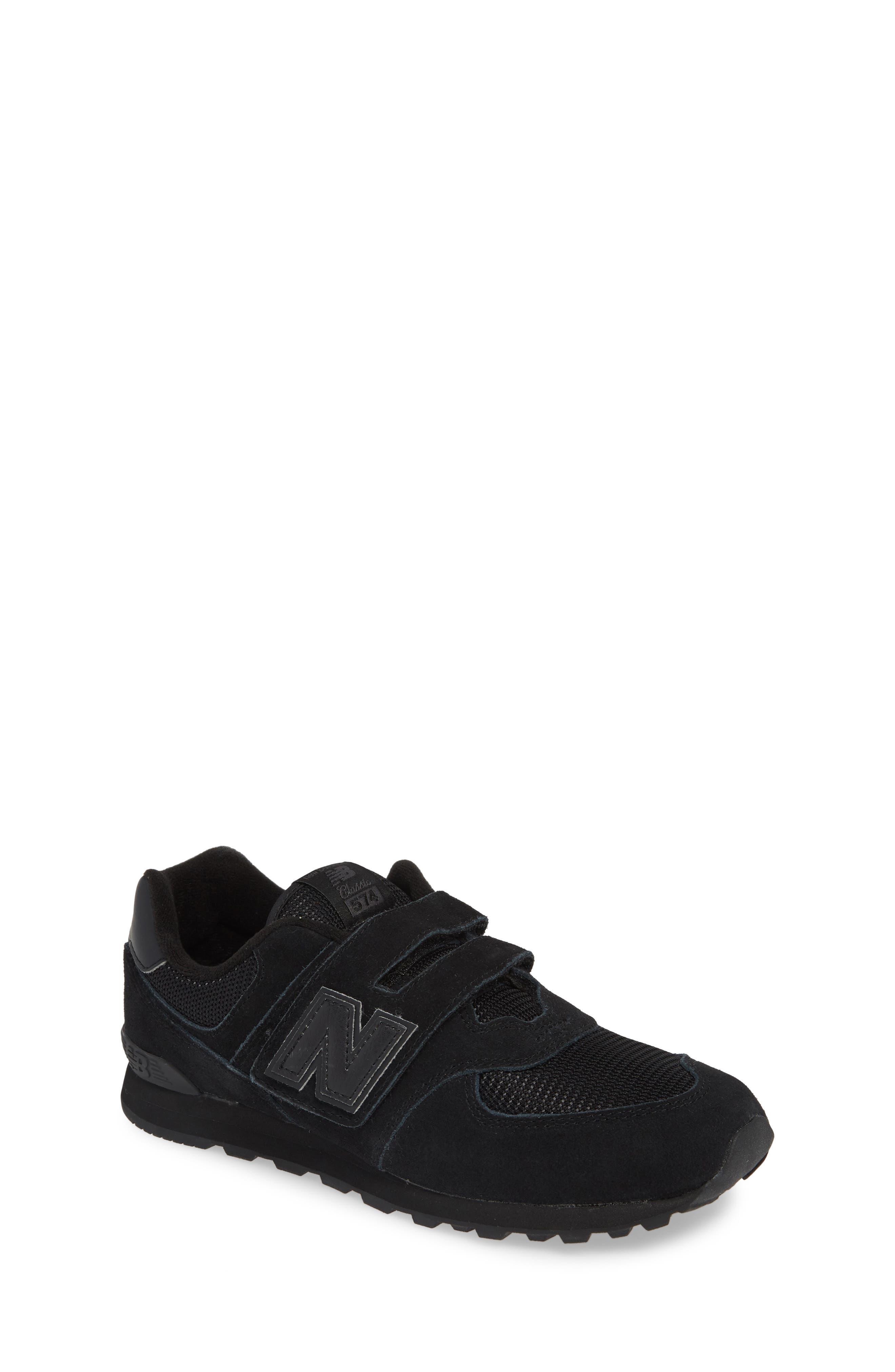 NEW BALANCE,                             574 Retro Surf Sneaker,                             Main thumbnail 1, color,                             BLACK/ BLACK