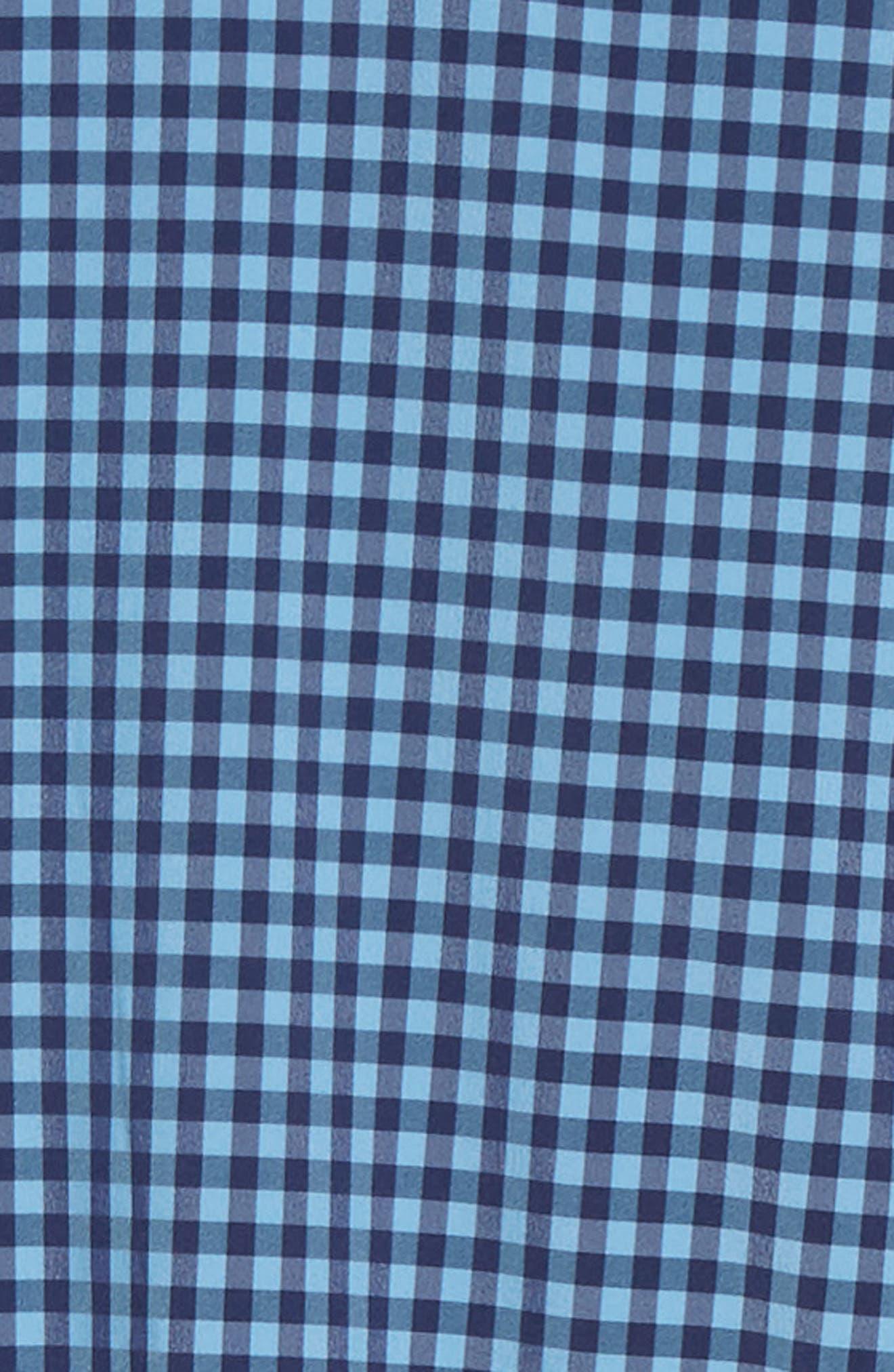 Whitten Regular Fit Check Performance Sport Shirt,                             Alternate thumbnail 6, color,                             BLUE