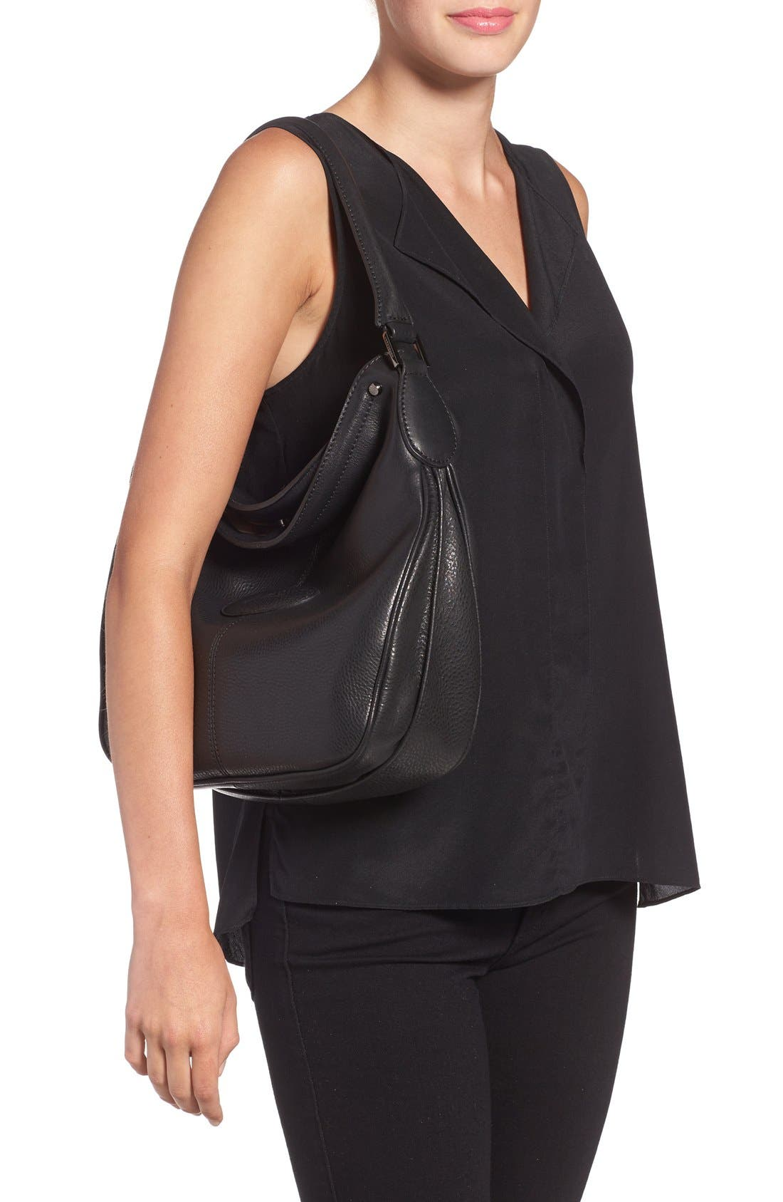 'Mystery' Leather Hobo,                             Alternate thumbnail 5, color,