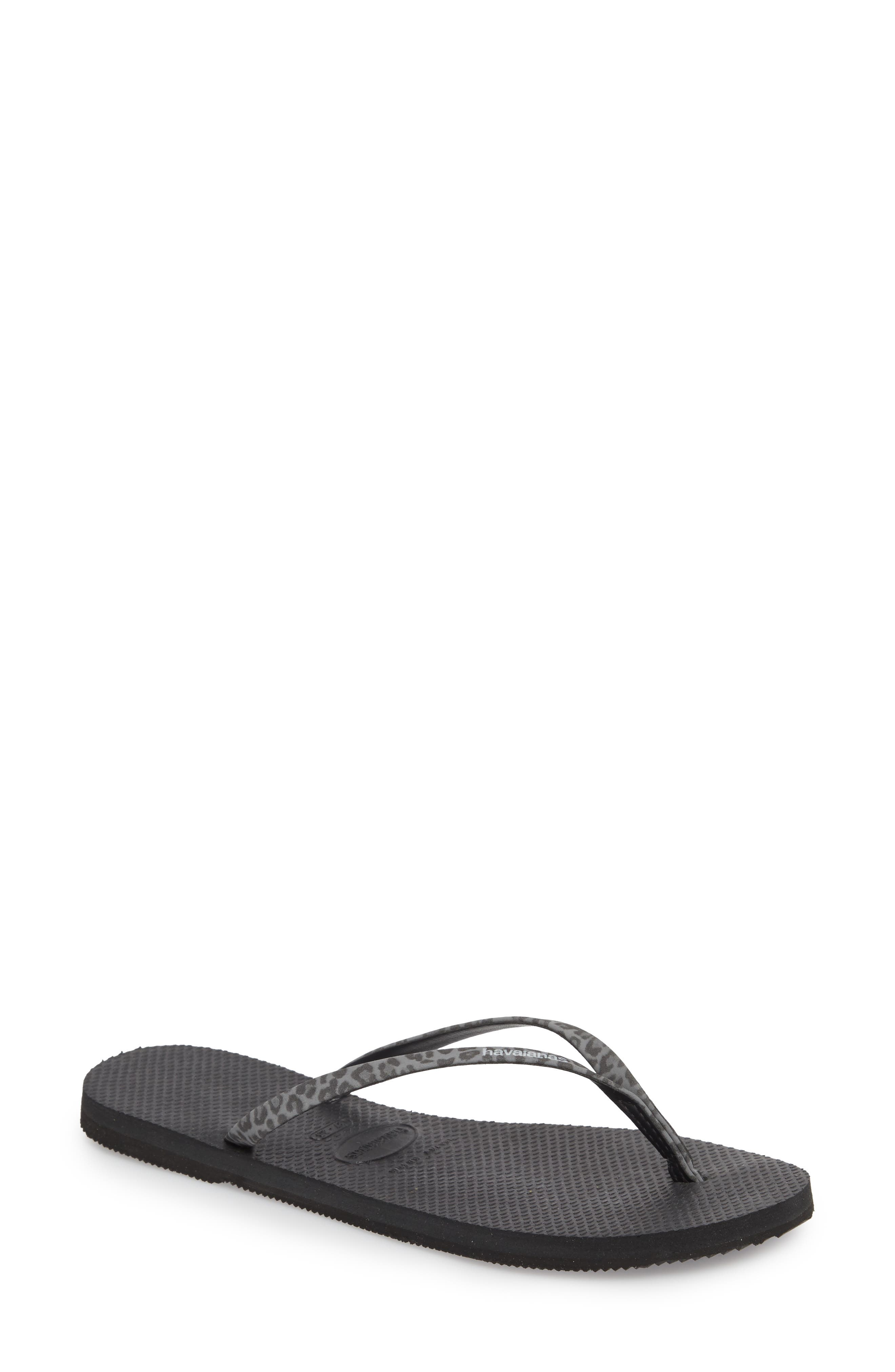 'You' Flip Flop,                         Main,                         color, ONYX
