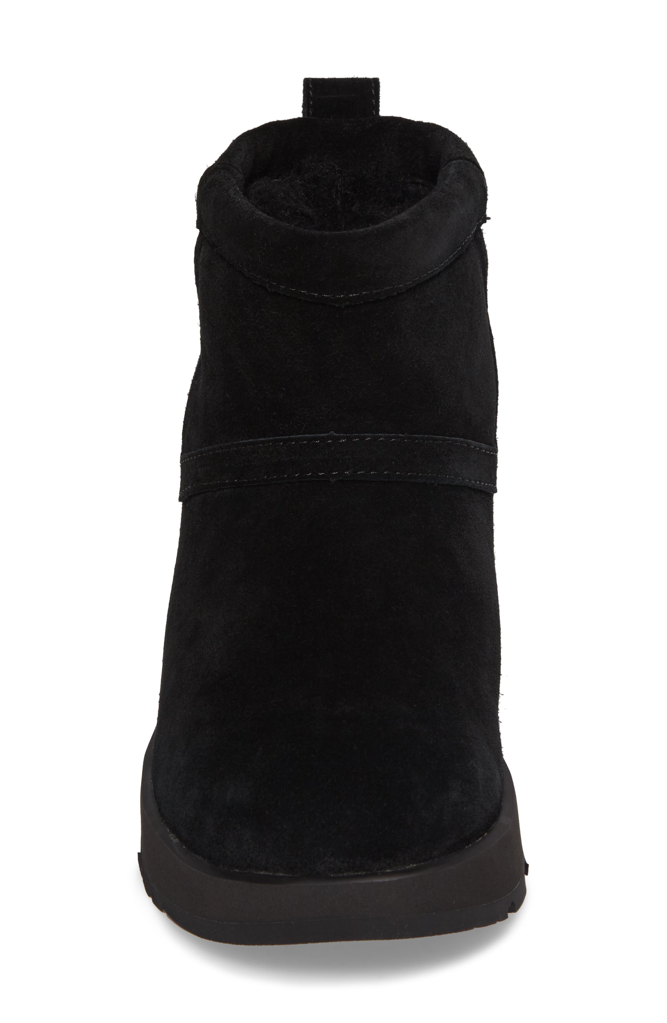 UGG<SUP>®</SUP>,                             Classic Mini Waterproof Boot,                             Alternate thumbnail 4, color,                             BLACK SUEDE