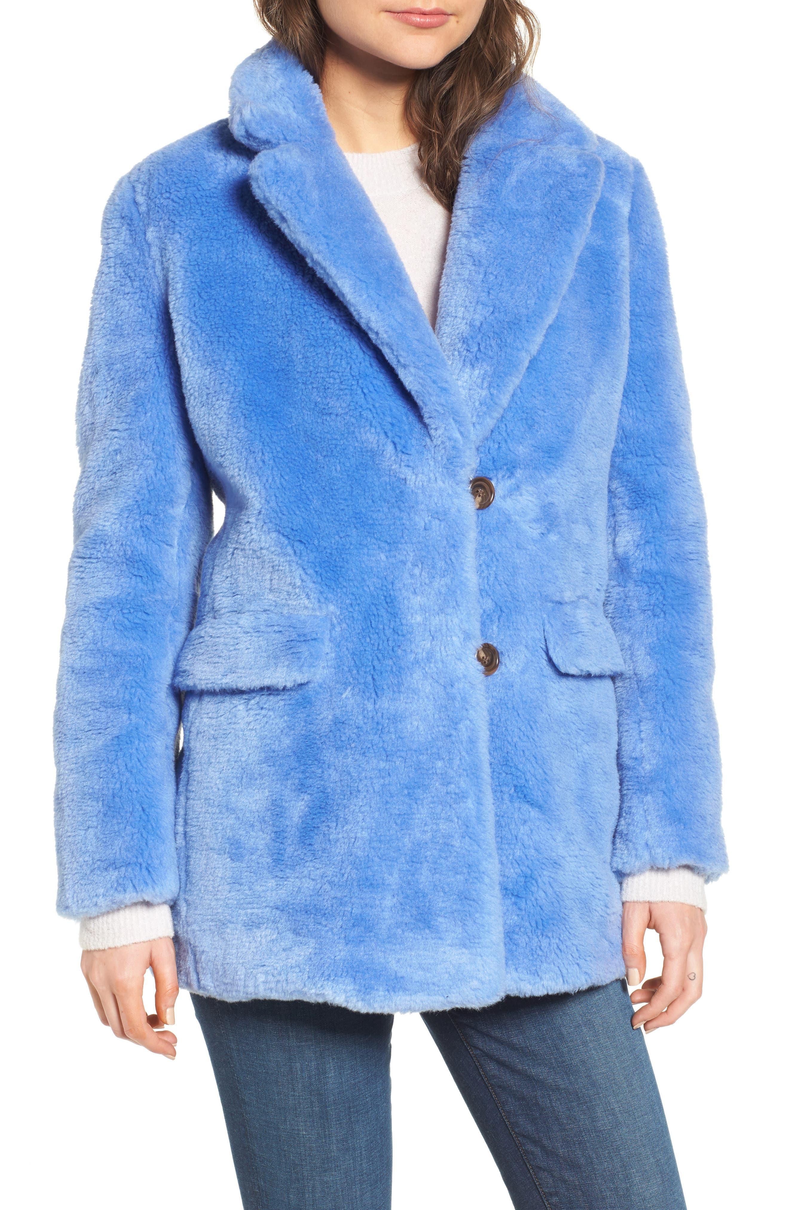 Yuna Teddy Faux Fur Jacket,                             Alternate thumbnail 7, color,