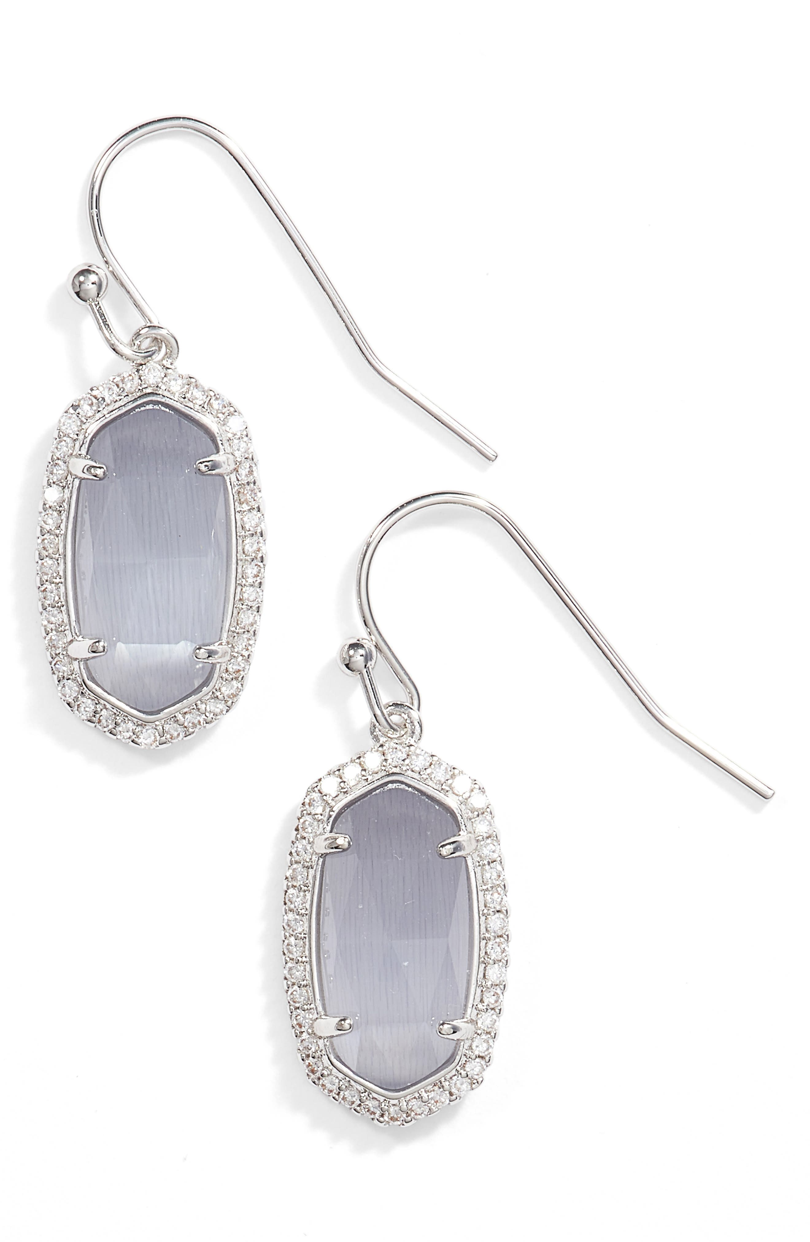 Lee Pavé Drop Earrings,                         Main,                         color, 020