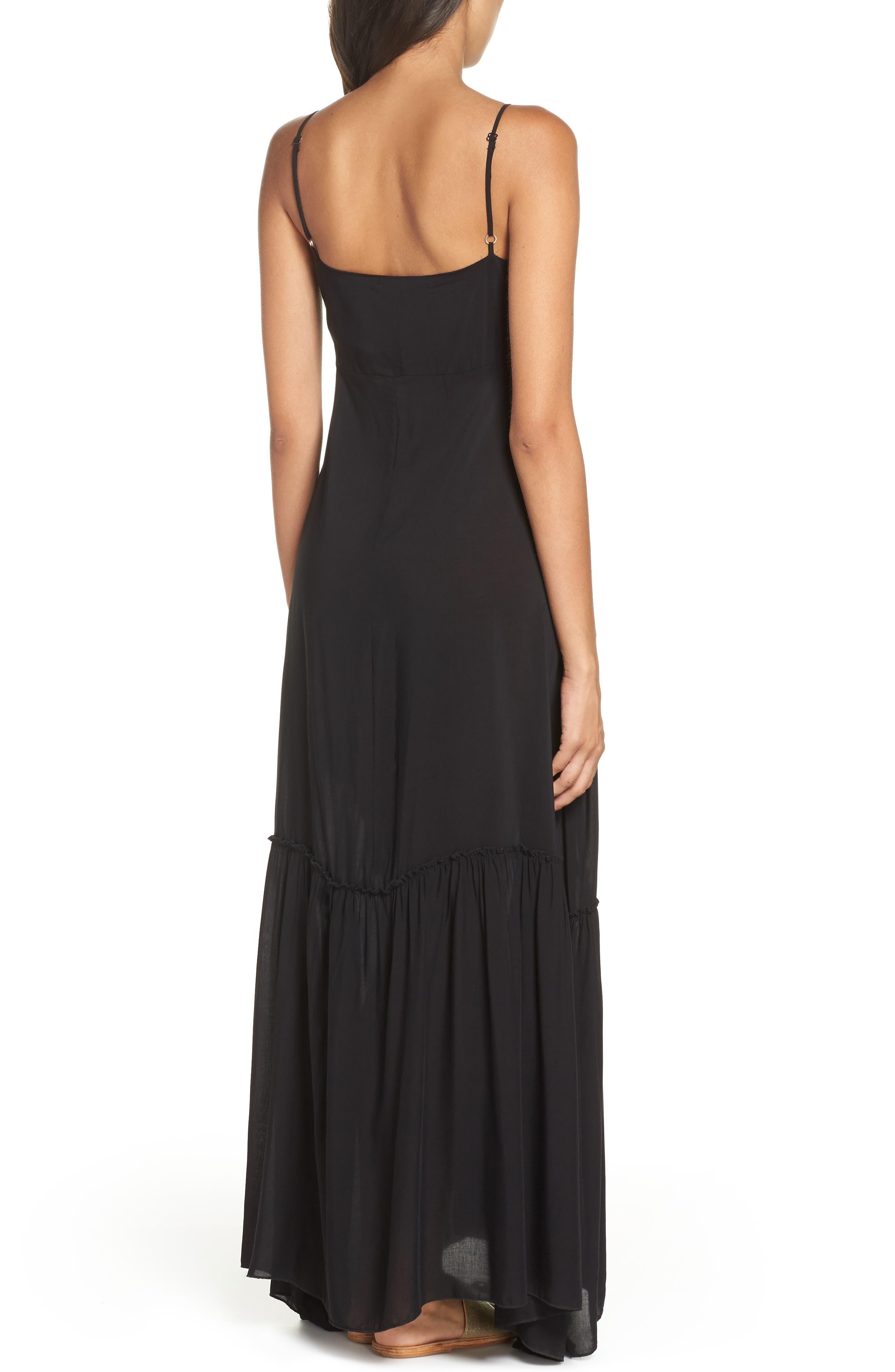 Maxi Cover-Up Dress,                             Alternate thumbnail 2, color,                             BLACK