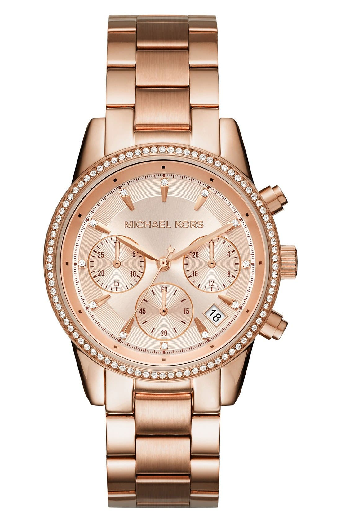 Ritz Chronograph Bracelet Watch, 37mm,                             Main thumbnail 5, color,
