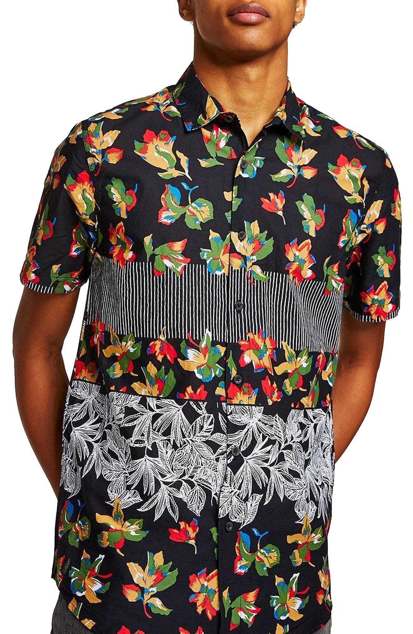 Multi Print Shirt,                         Main,                         color, 001