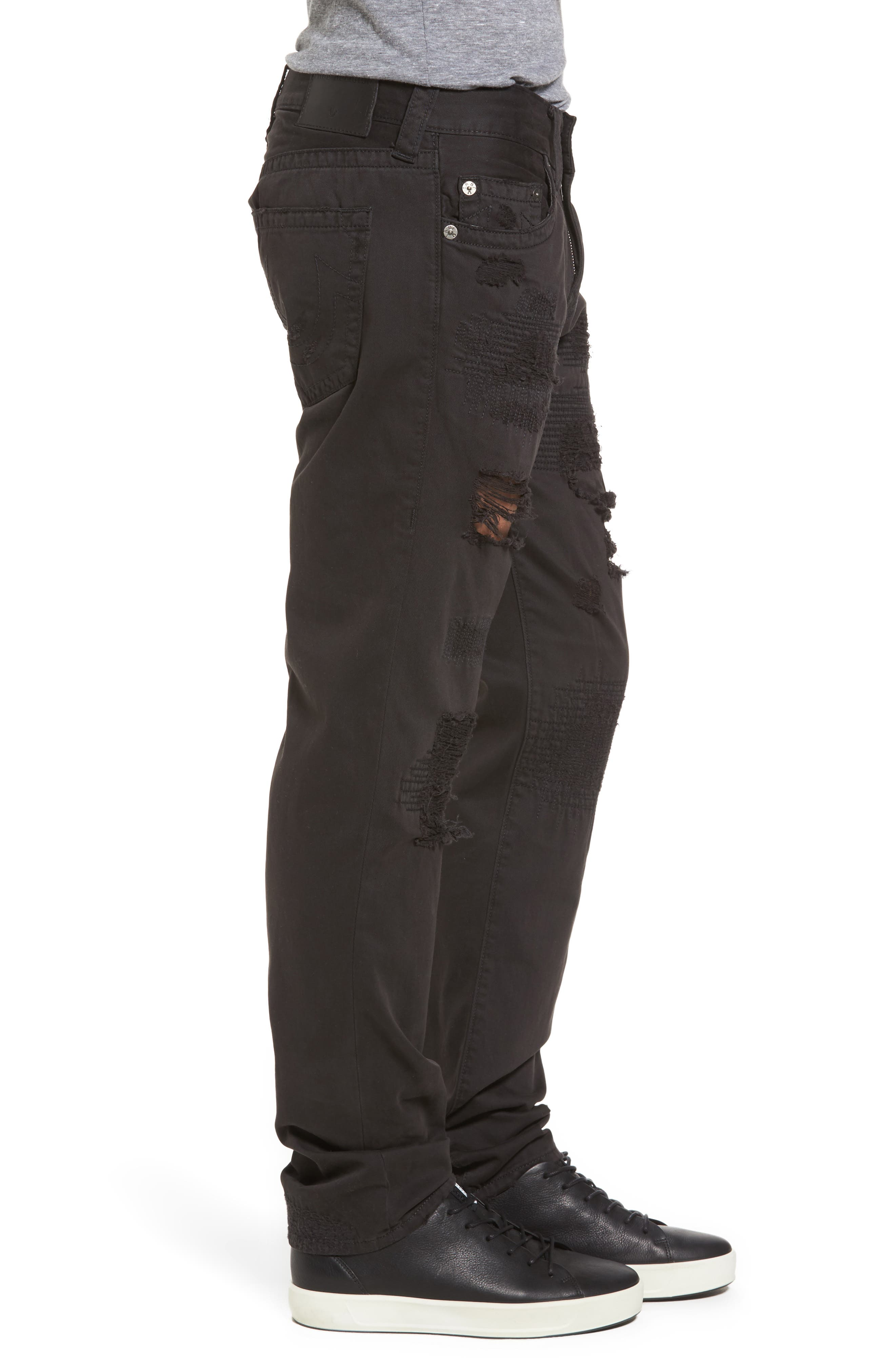 Geno Straight Fit Jeans,                             Alternate thumbnail 3, color,                             BLACK