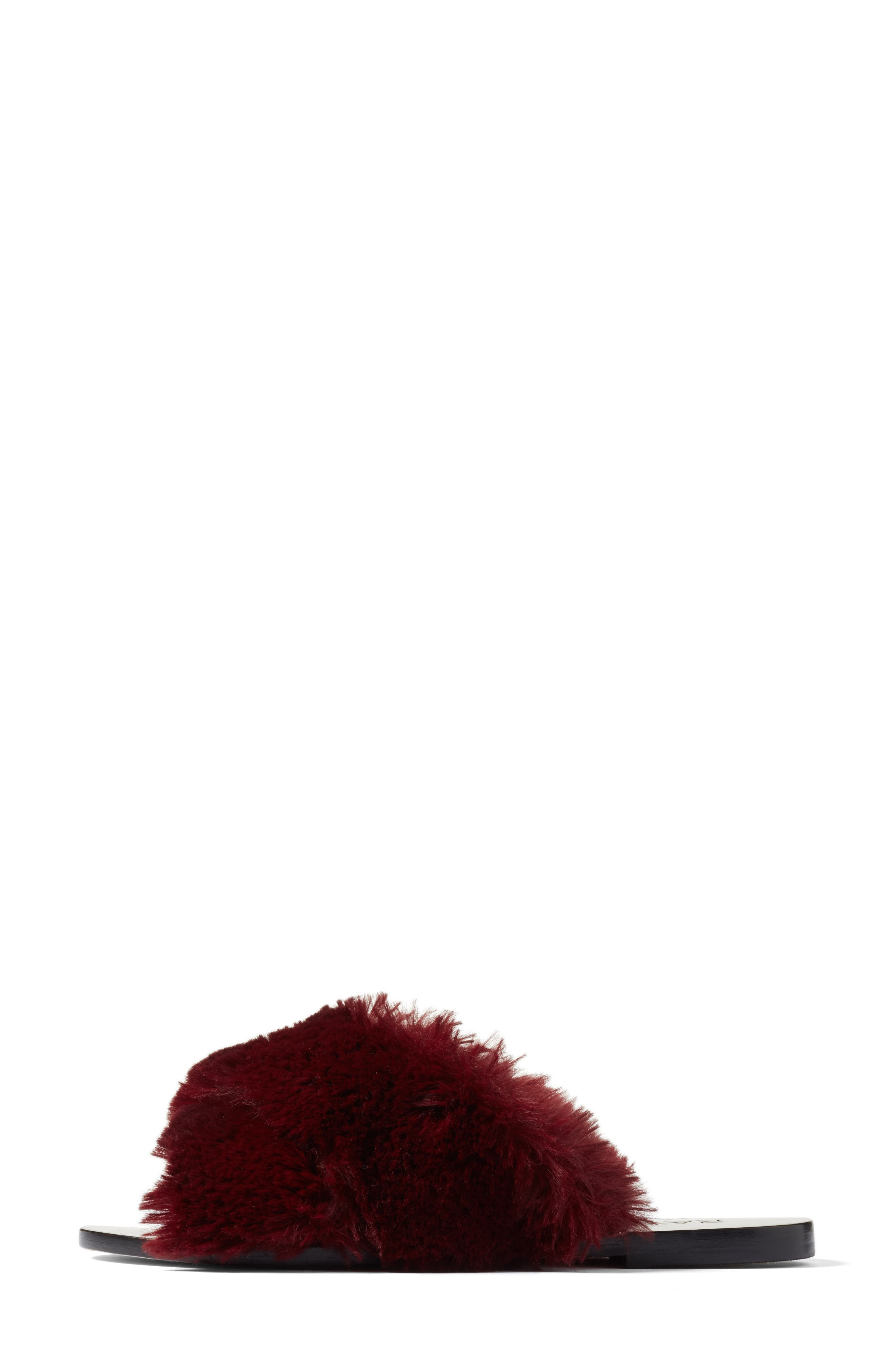 Sid Faux Fur Slide Sandal,                             Alternate thumbnail 3, color,                             930