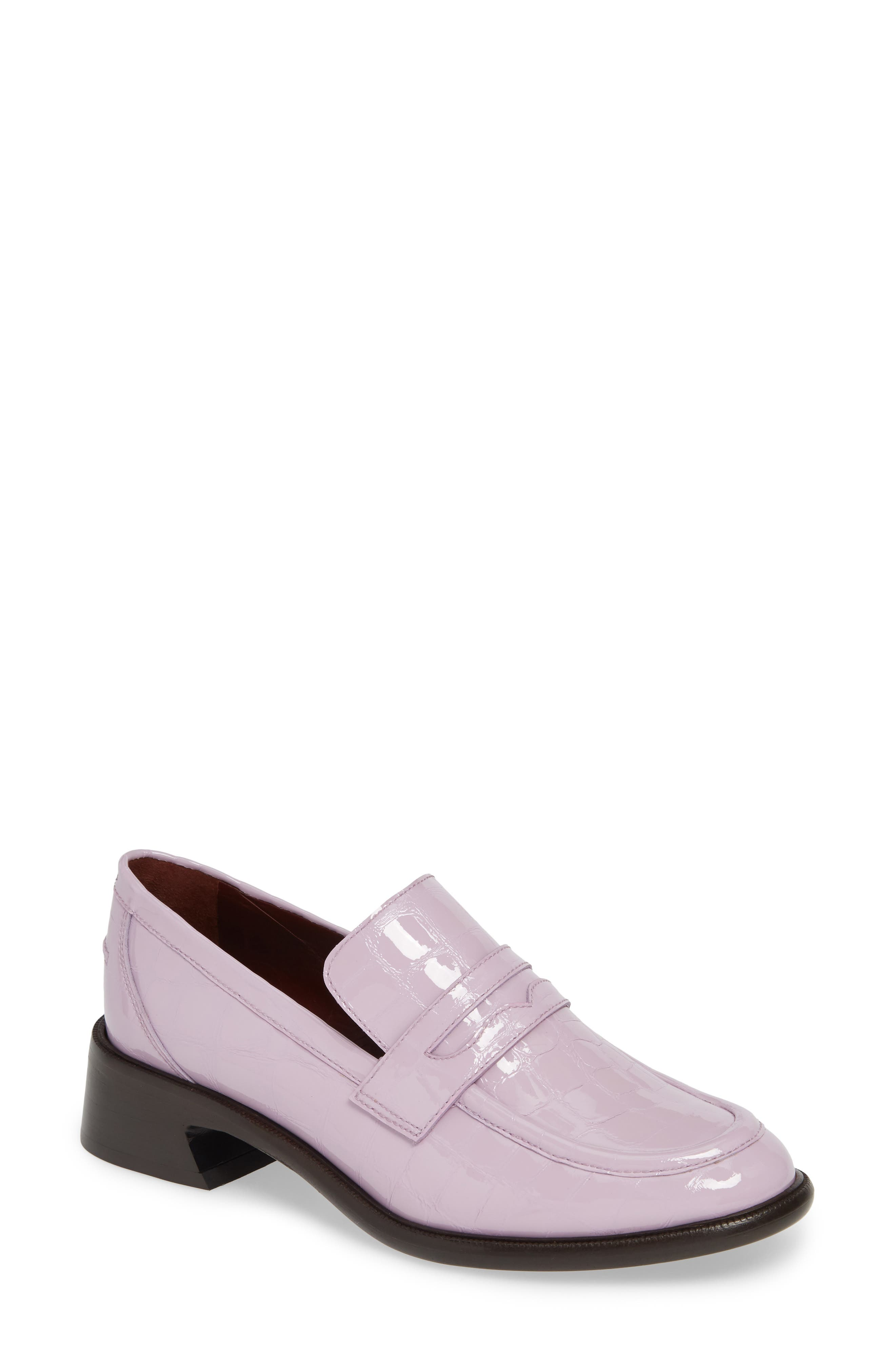 Croc Embossed Loafer in Pink