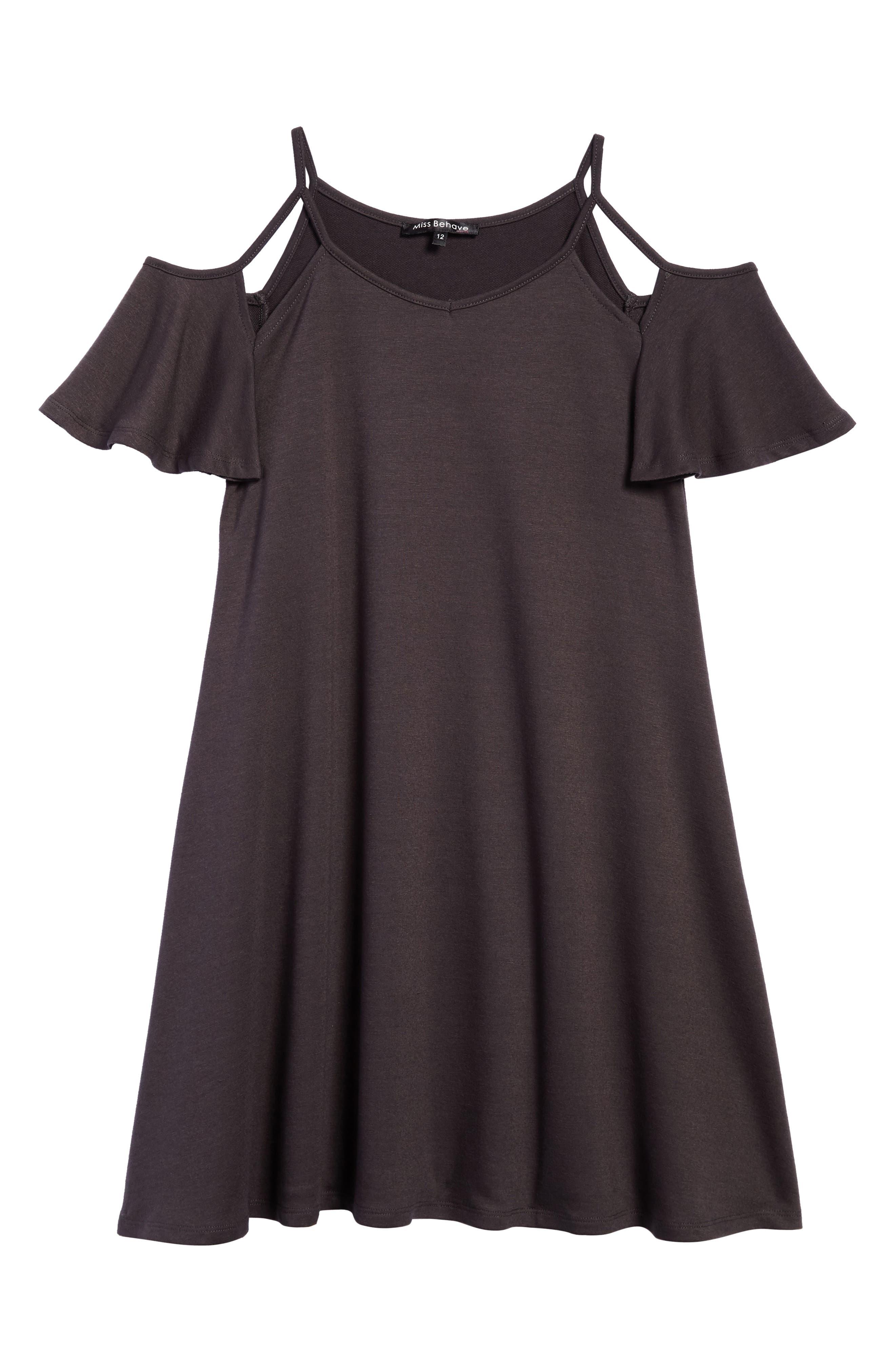 Cold Shoulder Dress,                             Main thumbnail 1, color,                             028