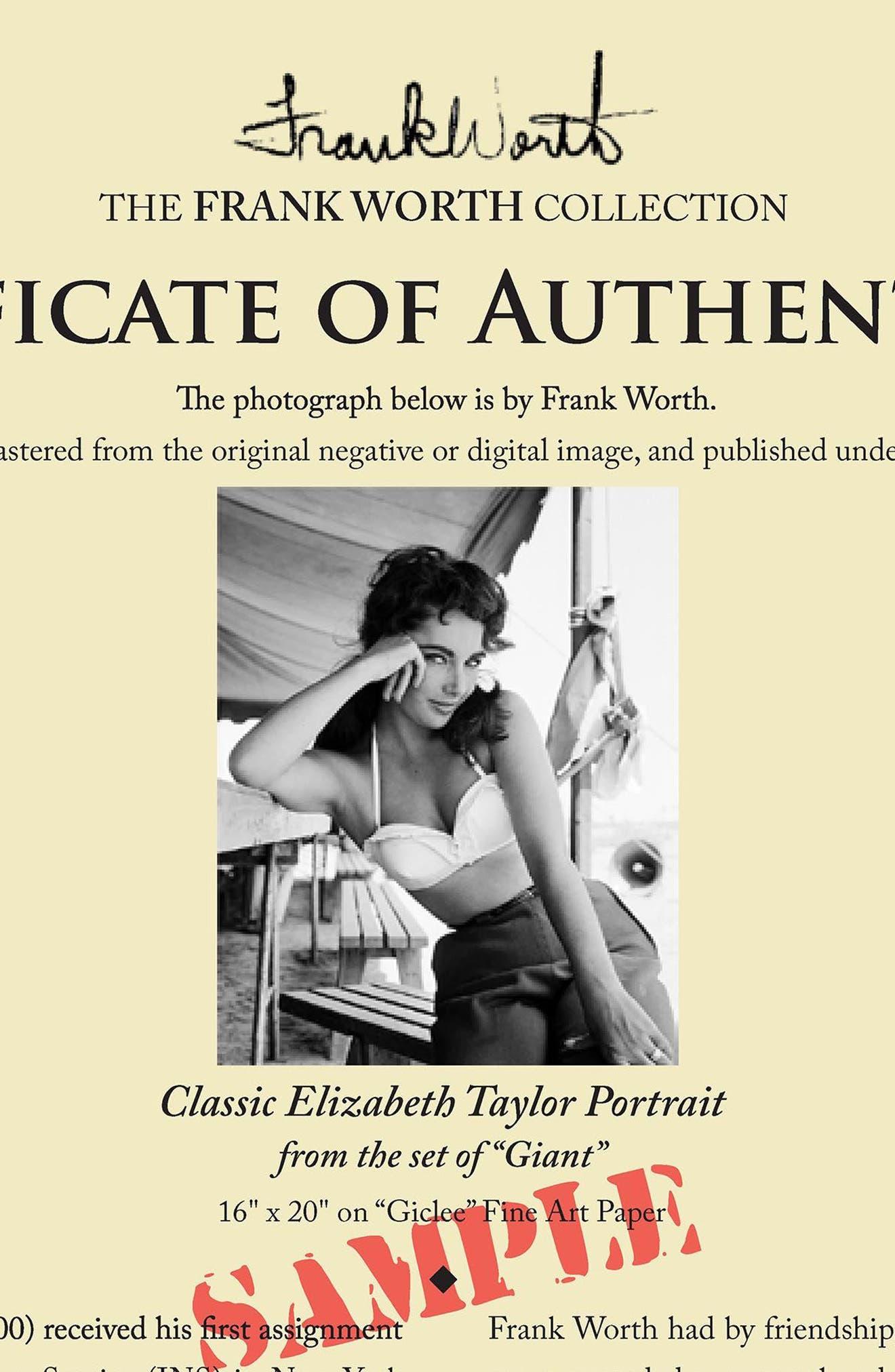 Elizabeth Taylor Fine Art Print,                             Alternate thumbnail 2, color,                             001