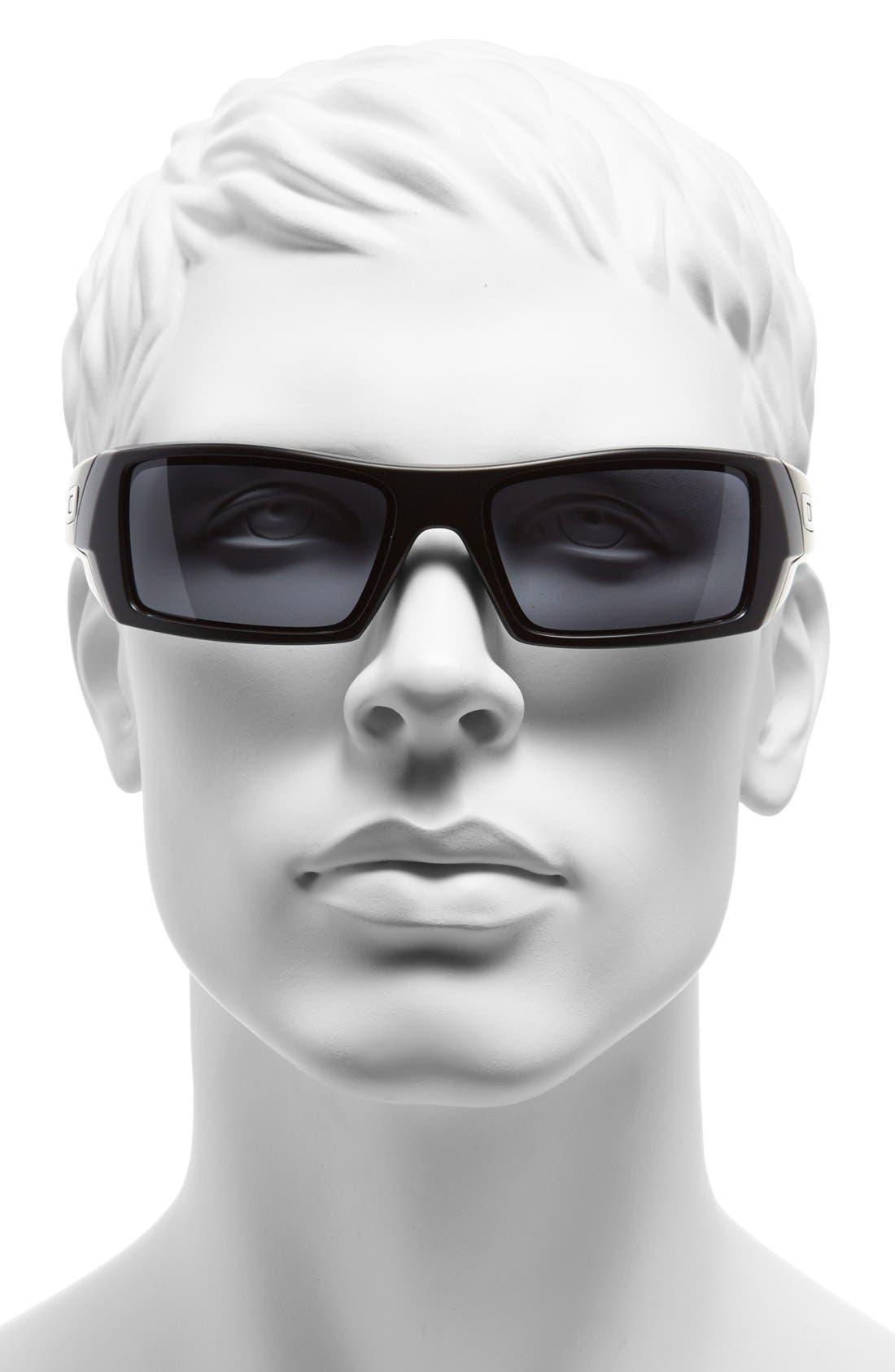 'Gascan' 60mm Sunglasses,                             Alternate thumbnail 2, color,                             MATTE BLACK/ GREY