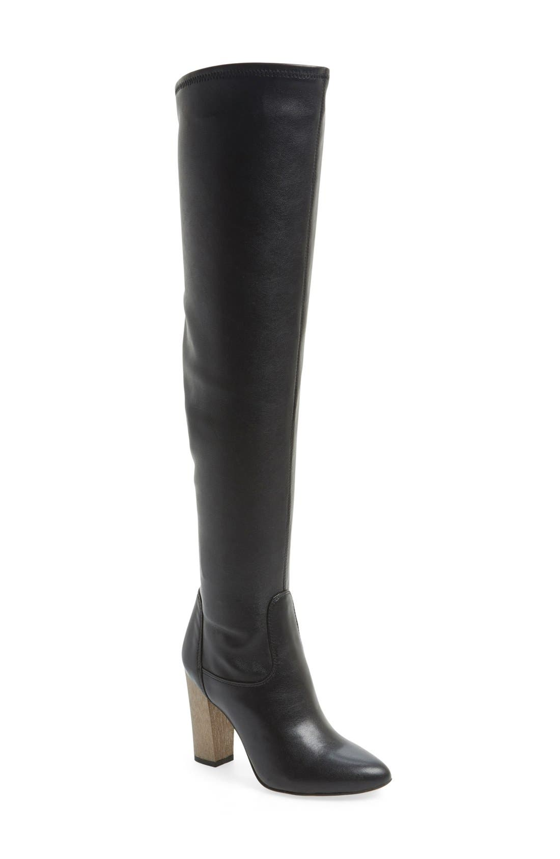 'Brooklyn' Over the Knee Boot,                             Main thumbnail 1, color,                             001
