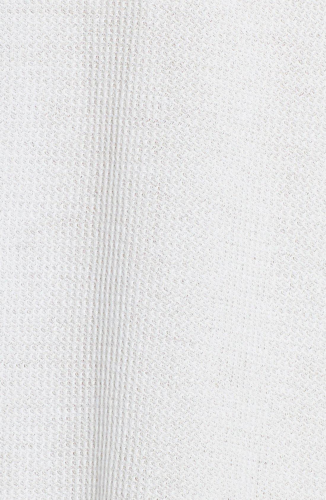 Waffle Knit Pima Cotton Tunic,                             Alternate thumbnail 5, color,                             400