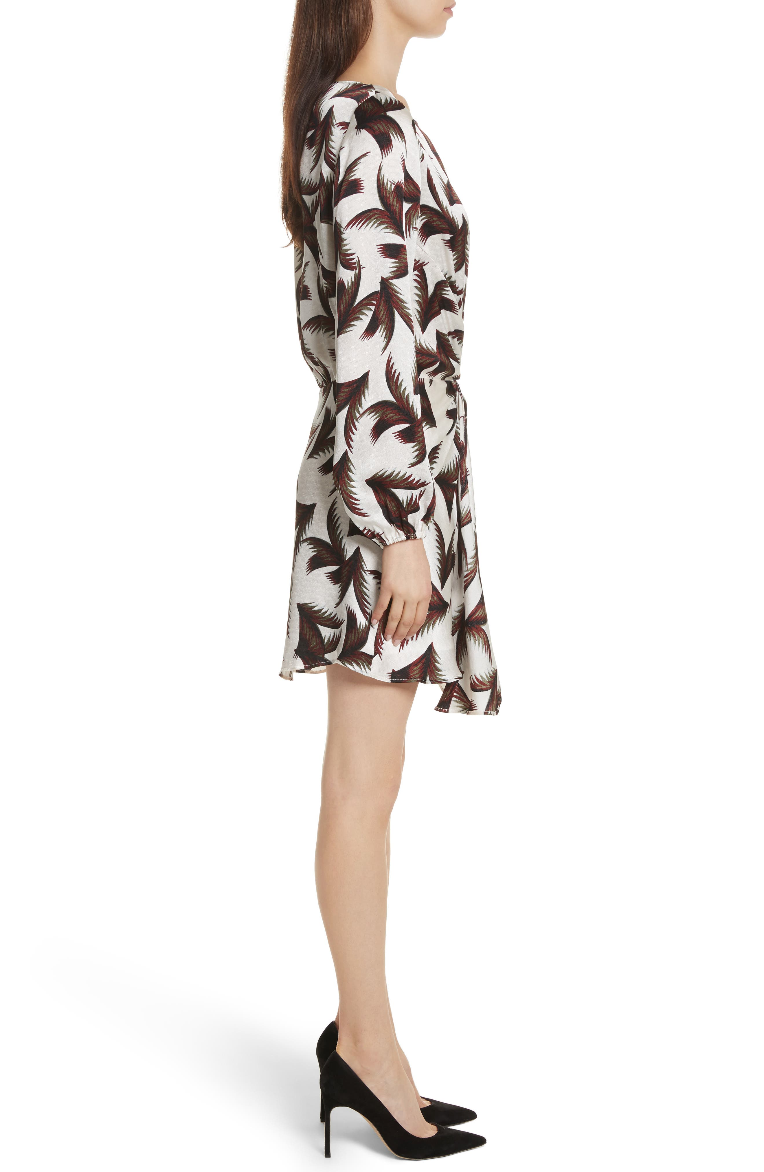Freja Knotted Silk Dress,                             Alternate thumbnail 3, color,                             110
