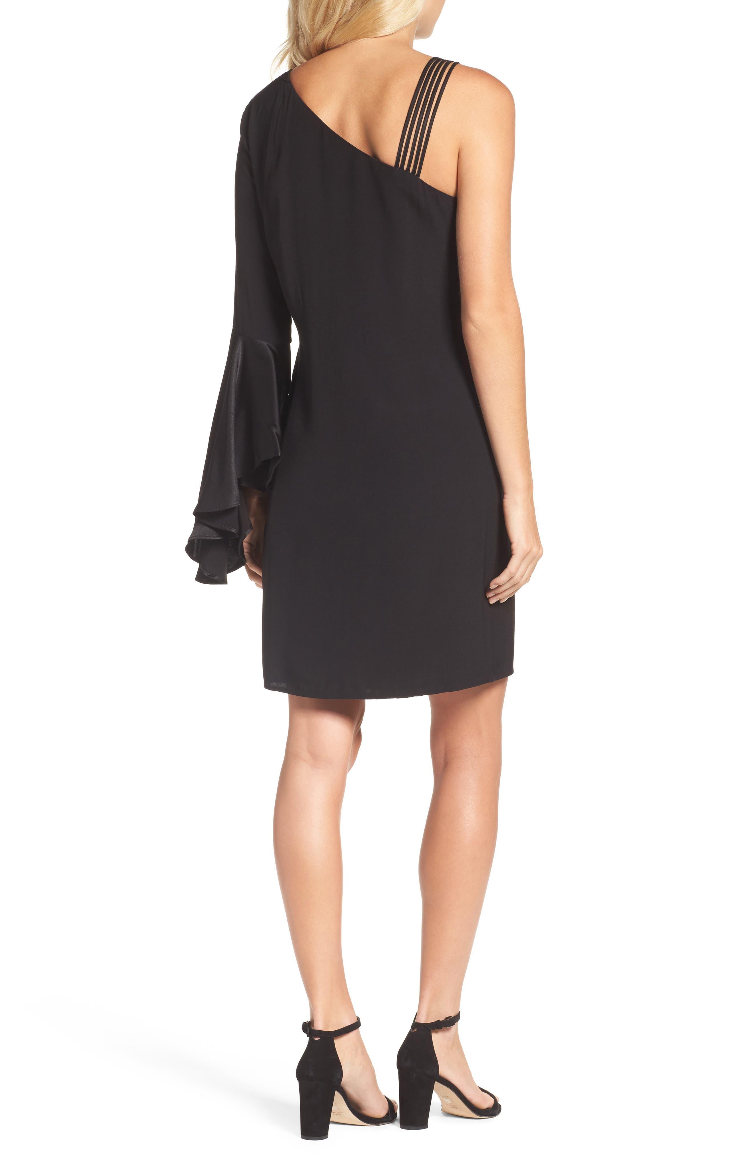 One-Shoulder Sheath Dress,                             Alternate thumbnail 2, color,                             004
