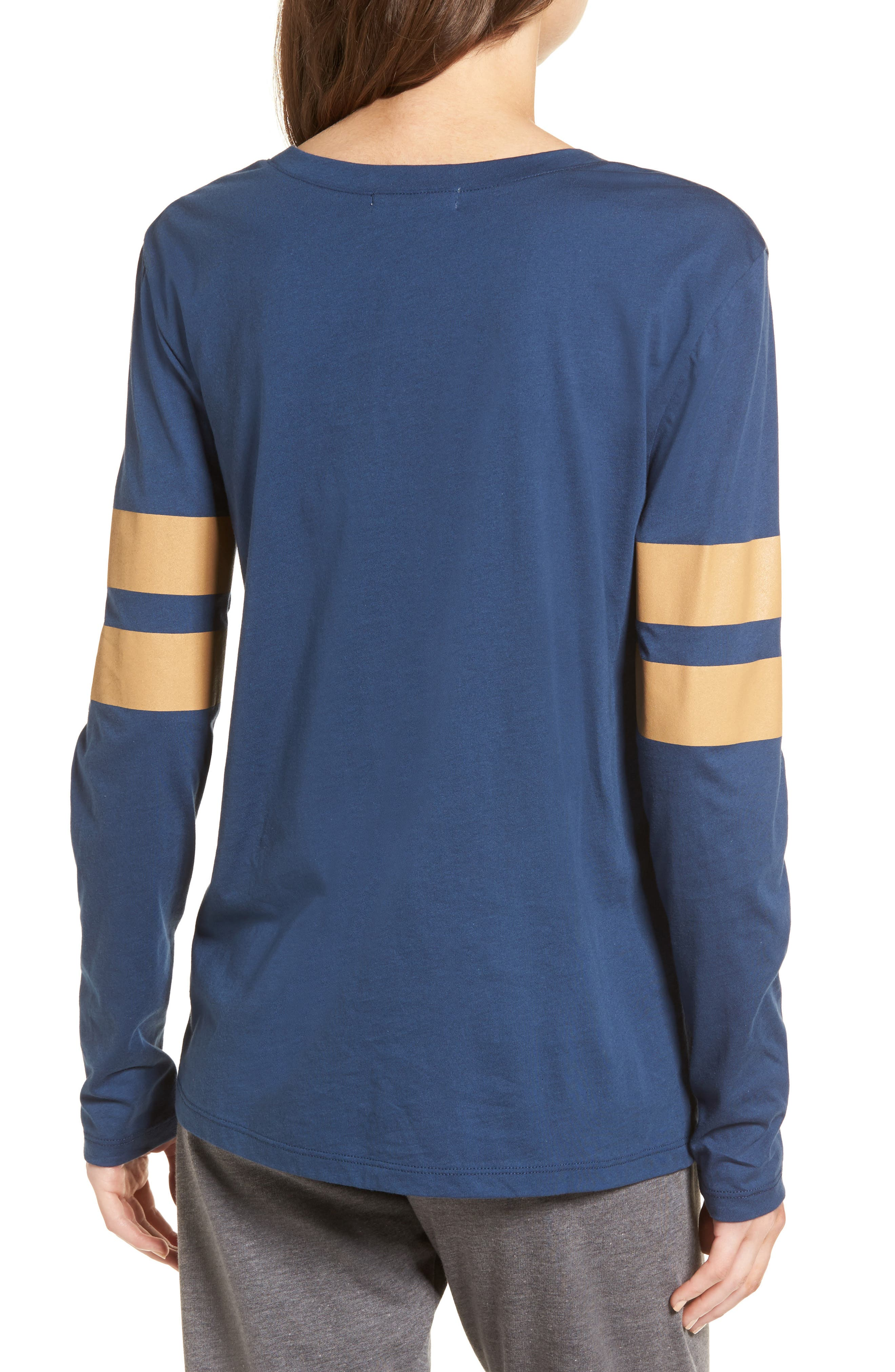 Varsity Stripe Cotton Tee,                             Alternate thumbnail 34, color,