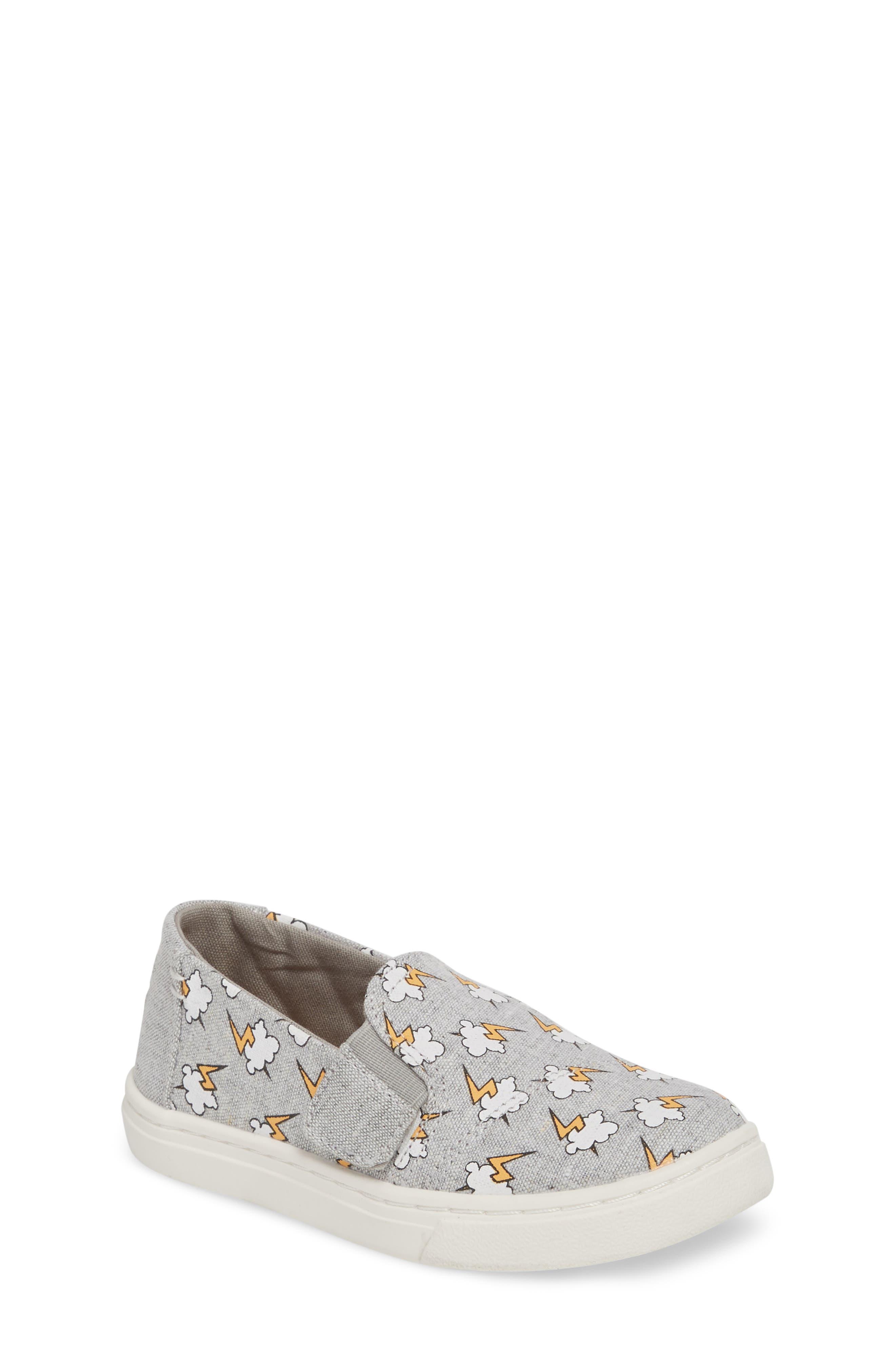 Luca Slip-On Sneaker,                         Main,                         color, DRIZZLE GREY LIGHTNING BOLT
