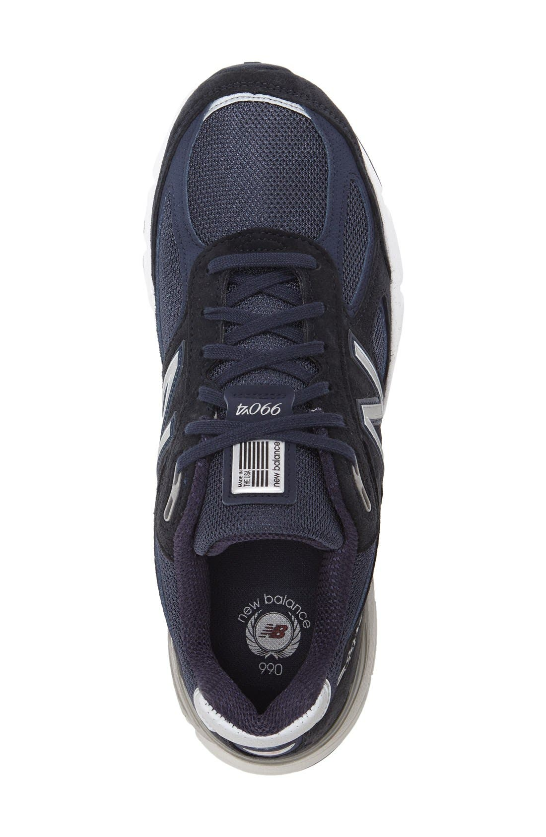 '990' Running Shoe,                             Alternate thumbnail 3, color,                             NAVY