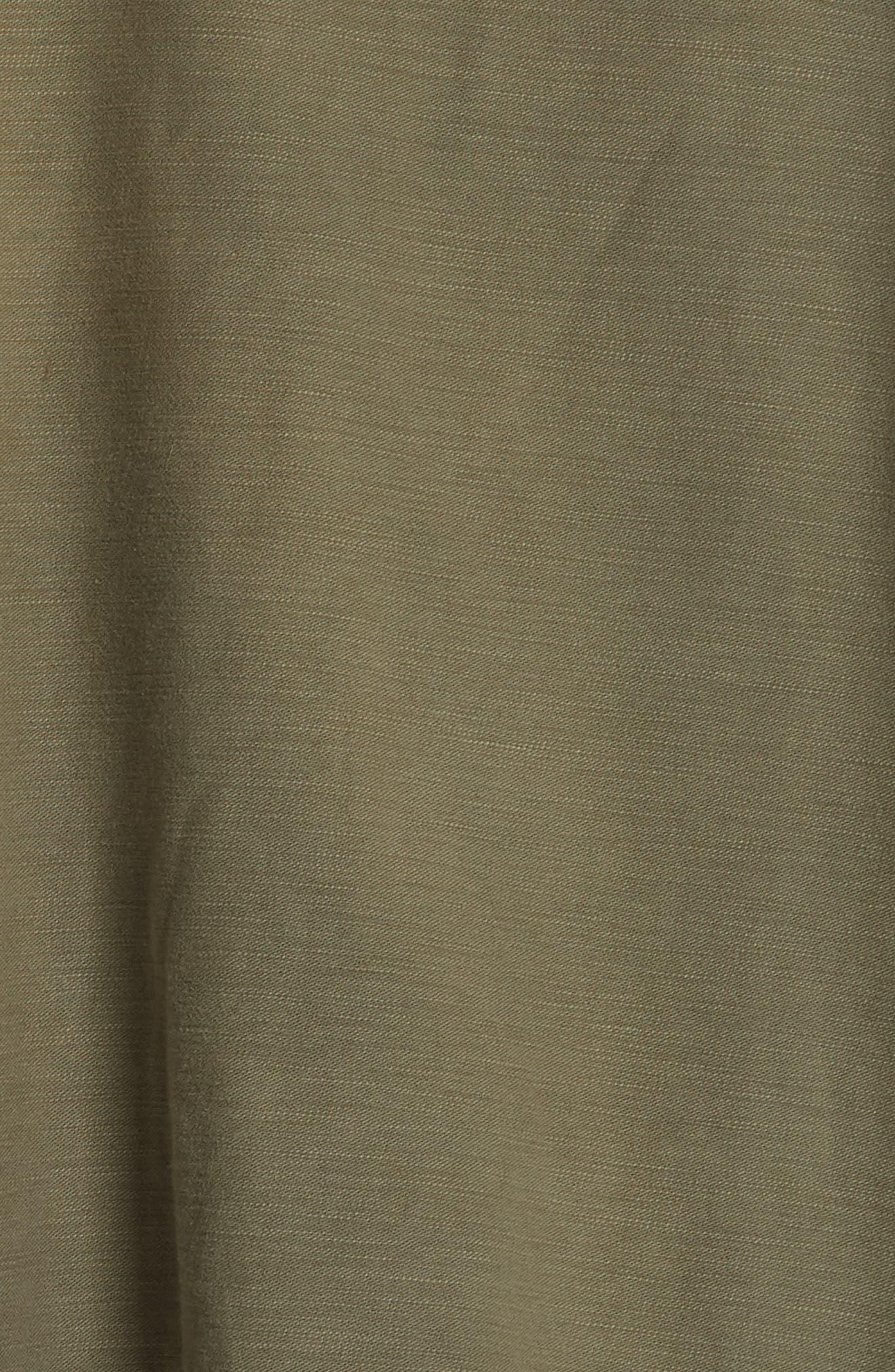 Abu Jacket with Long Leopard Print Hoodie,                             Alternate thumbnail 7, color,                             OLIVE/ ORANGE