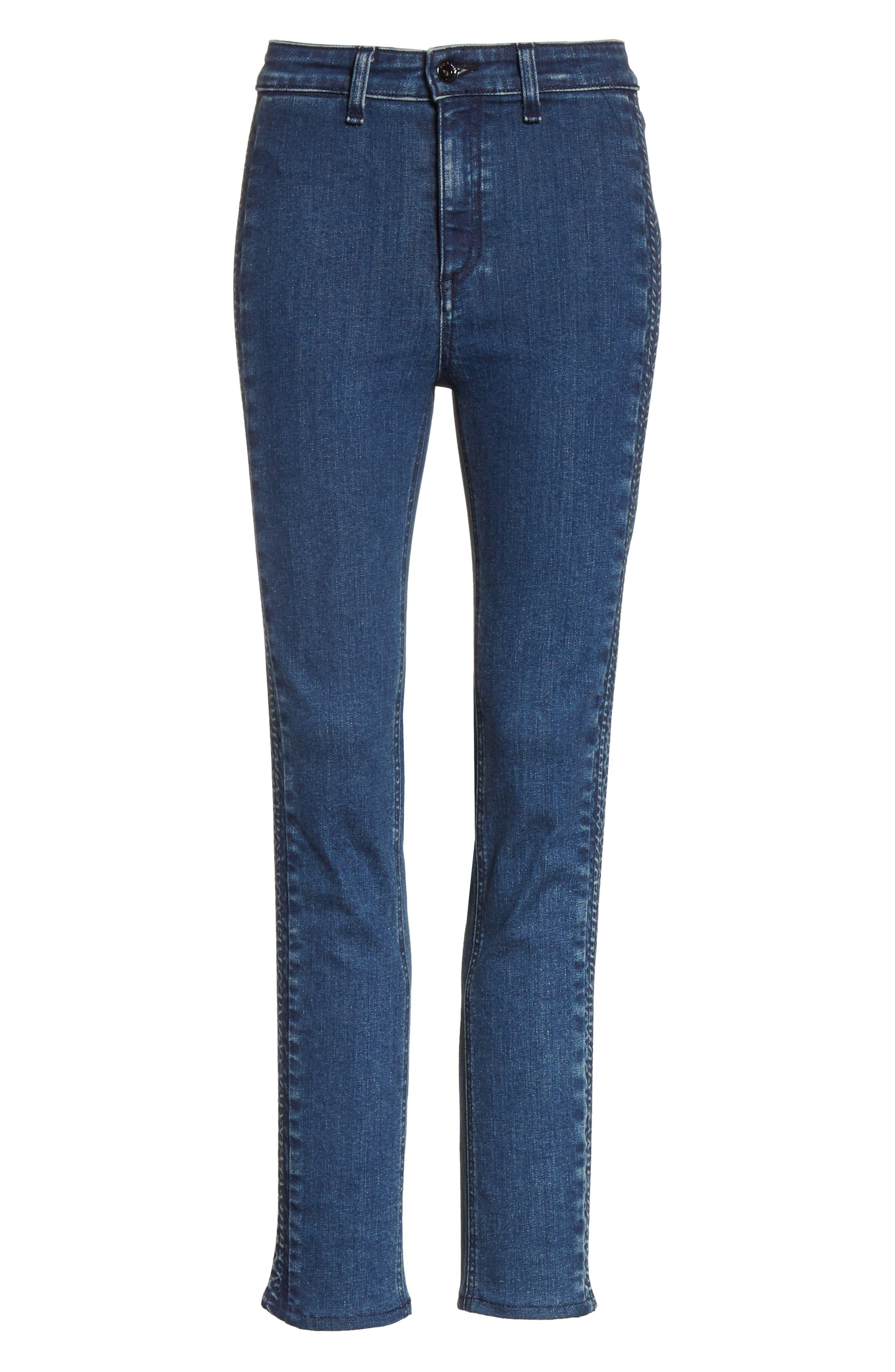 Ranata Tuxedo Cigarette Jeans,                             Alternate thumbnail 6, color,