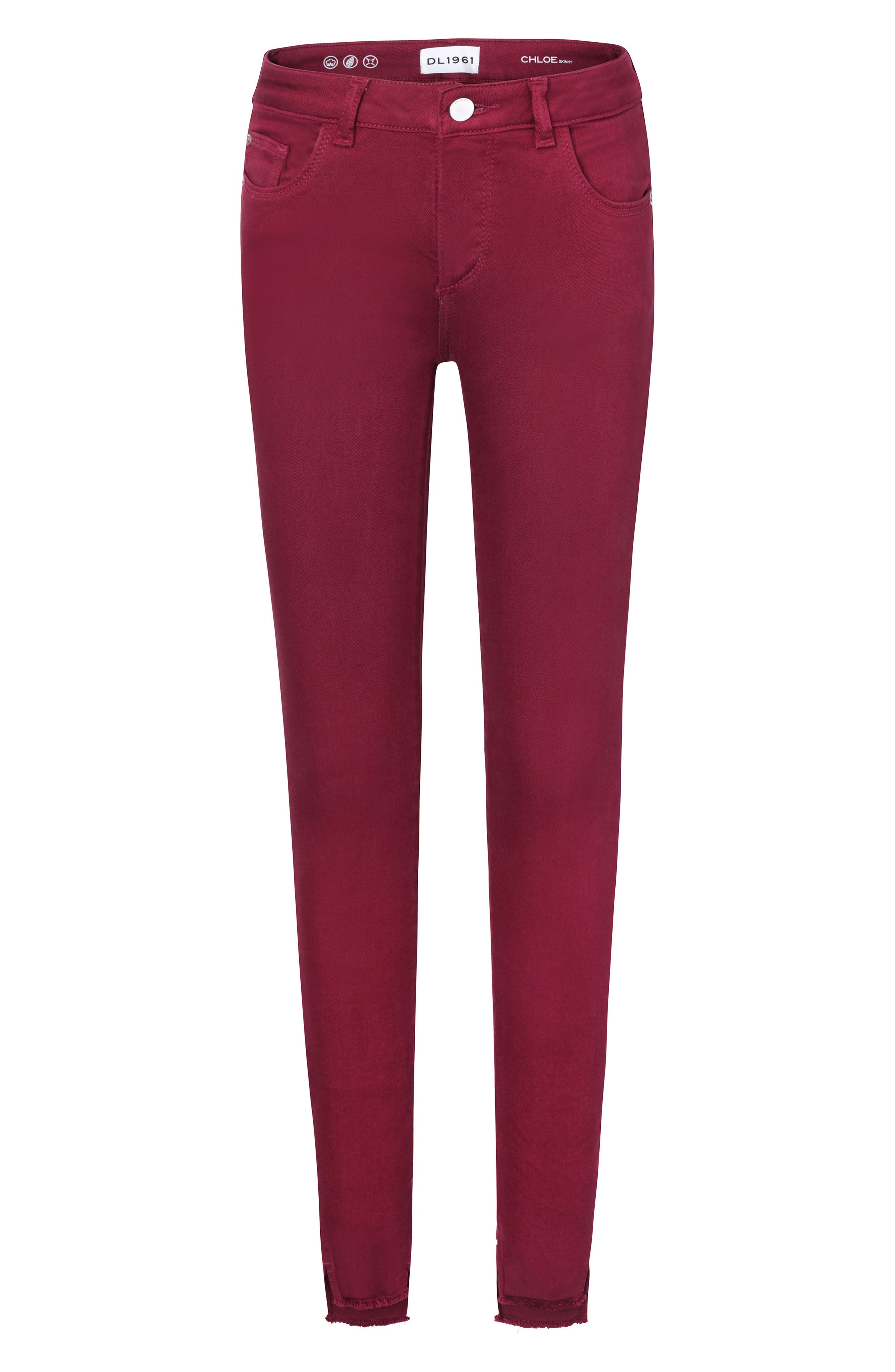 Chloe Skinny Jeans,                             Main thumbnail 1, color,                             VERY BERRY