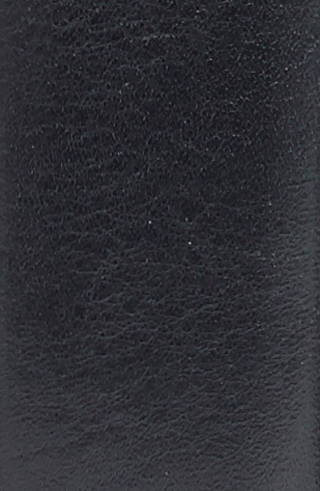 Calfskin Leather Belt,                             Alternate thumbnail 2, color,                             BLACK