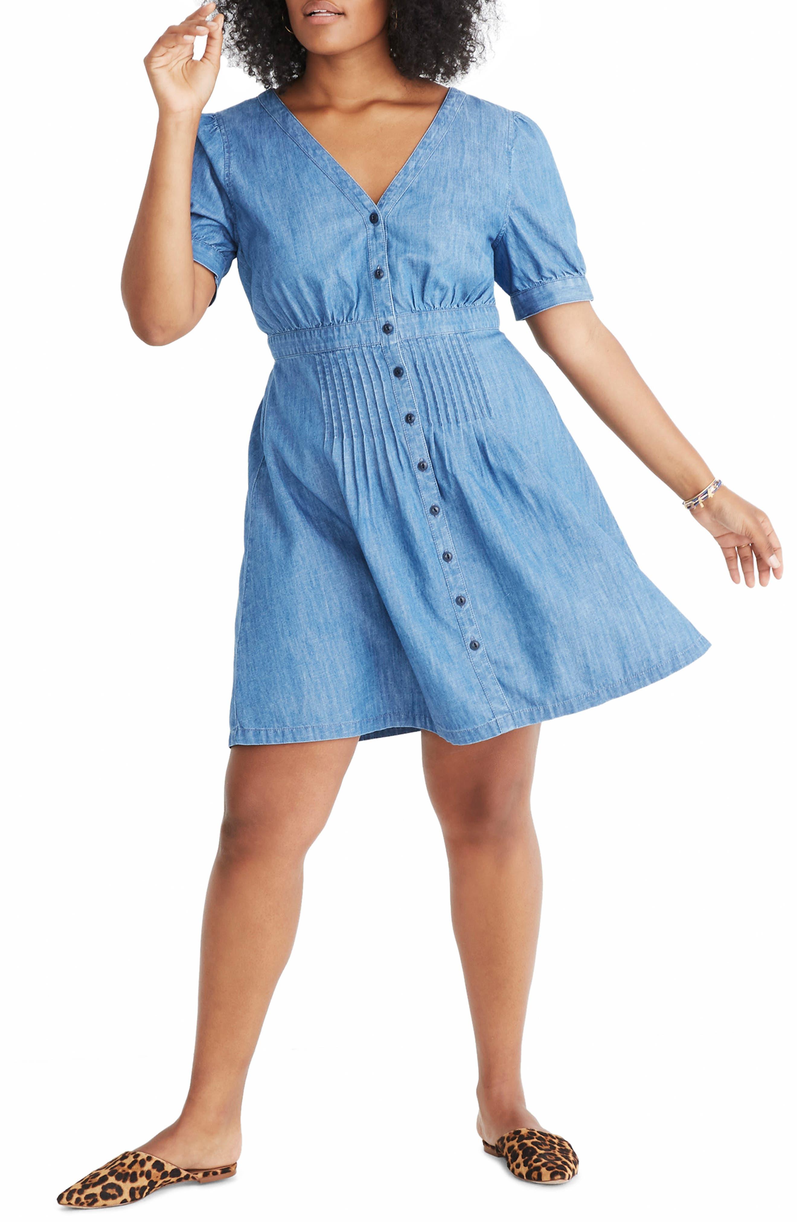Denim Daylily Dress,                             Alternate thumbnail 2, color,                             ANNETTA WASH