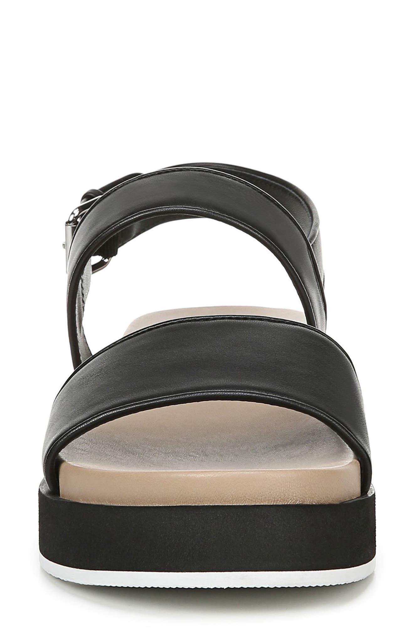 VIA SPIGA,                             Davi Platform Sandal,                             Alternate thumbnail 4, color,                             BLACK
