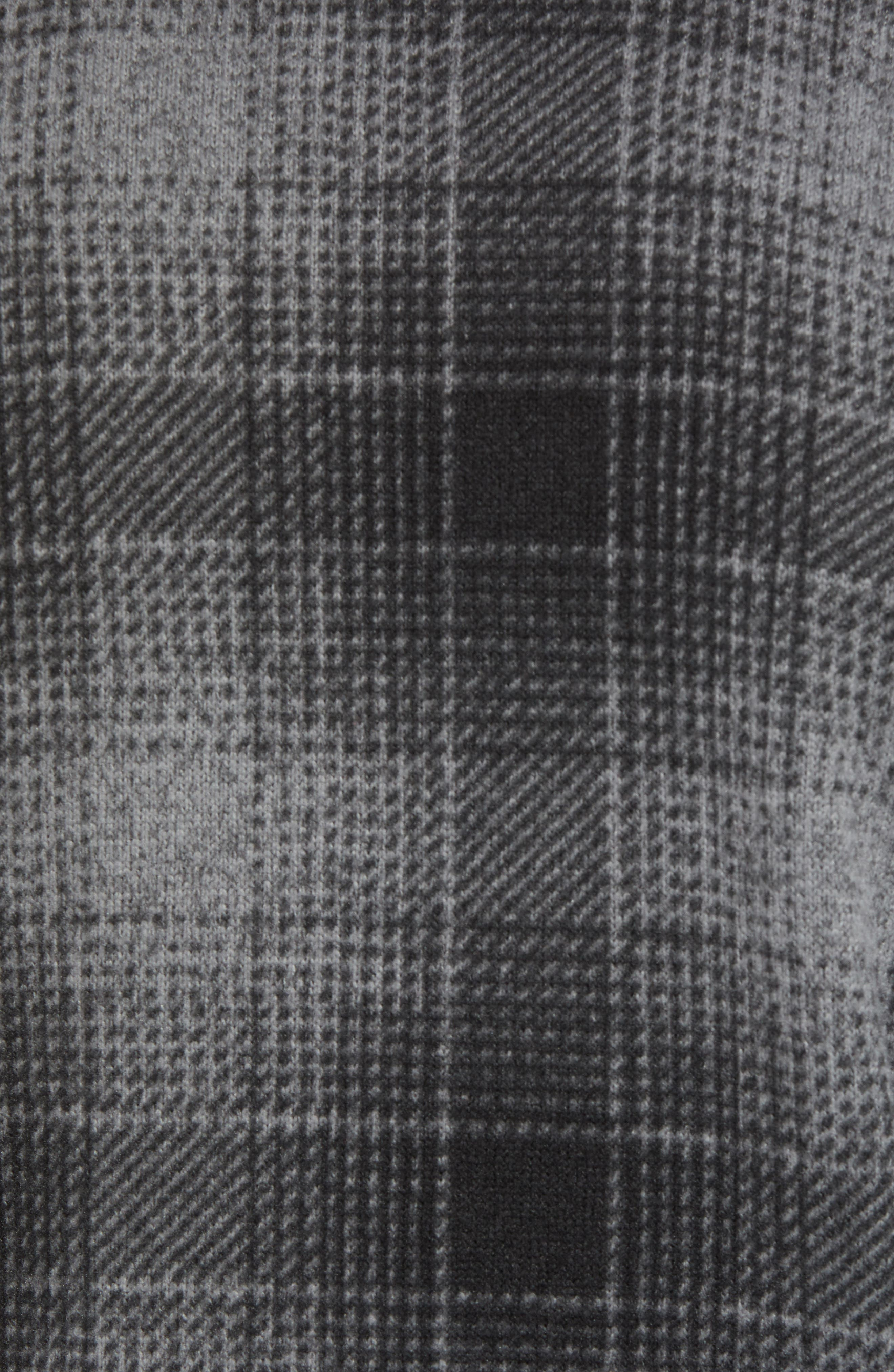 Novelty Gordon Lyons Plaid Pullover,                             Alternate thumbnail 5, color,                             MONUMENT GREY OMBRE PLAID