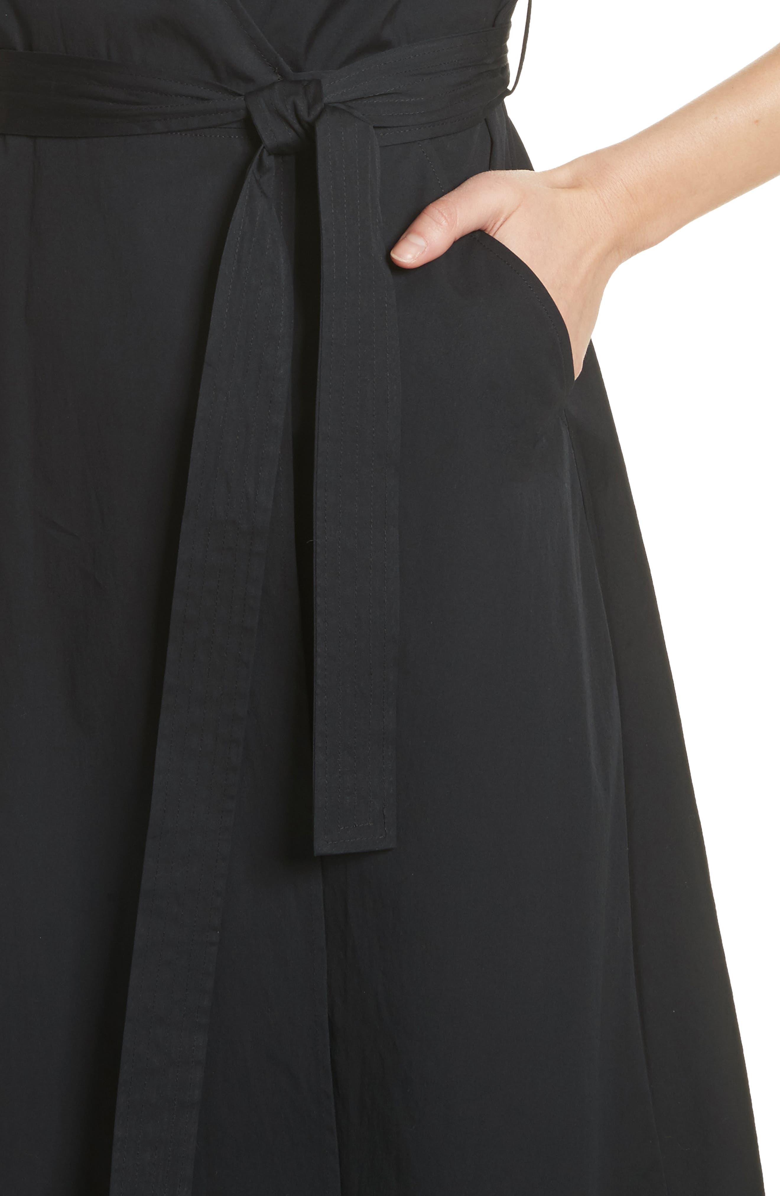 Meghan Wrap Dress,                             Alternate thumbnail 4, color,                             001