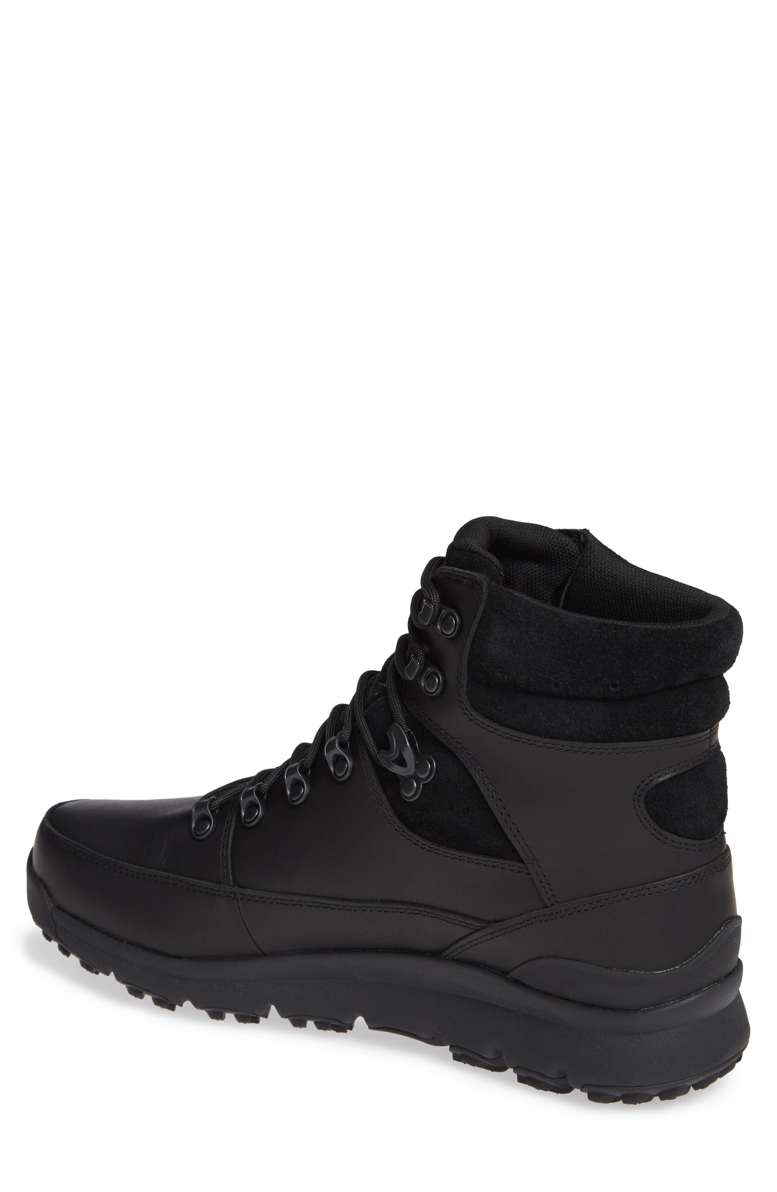 World Hiker Waterproof Boot,                             Alternate thumbnail 2, color,                             BLACK LEATHER