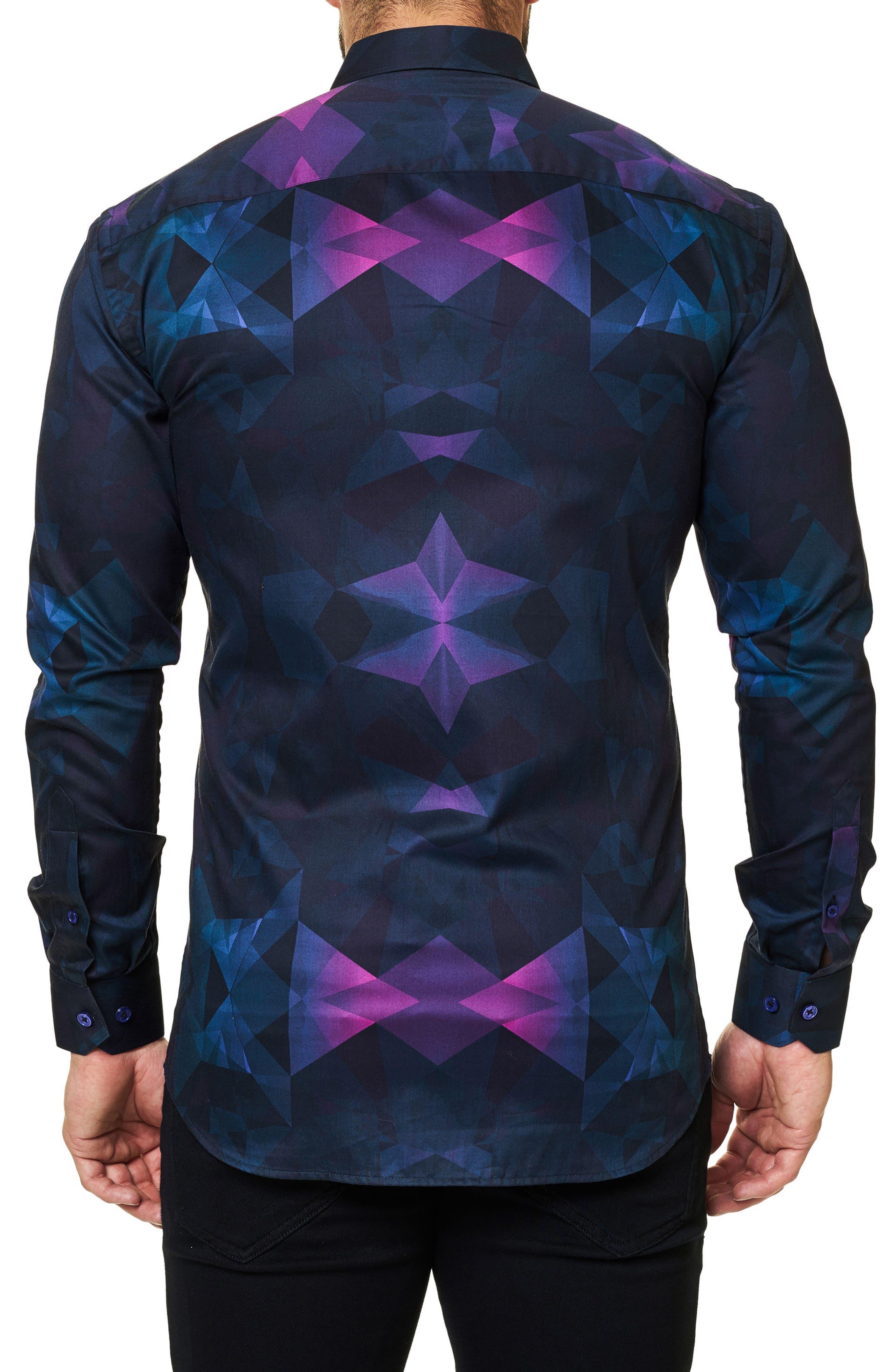 Luxor Webspread Dimensional Trim Fit Sport Shirt,                             Alternate thumbnail 2, color,                             002