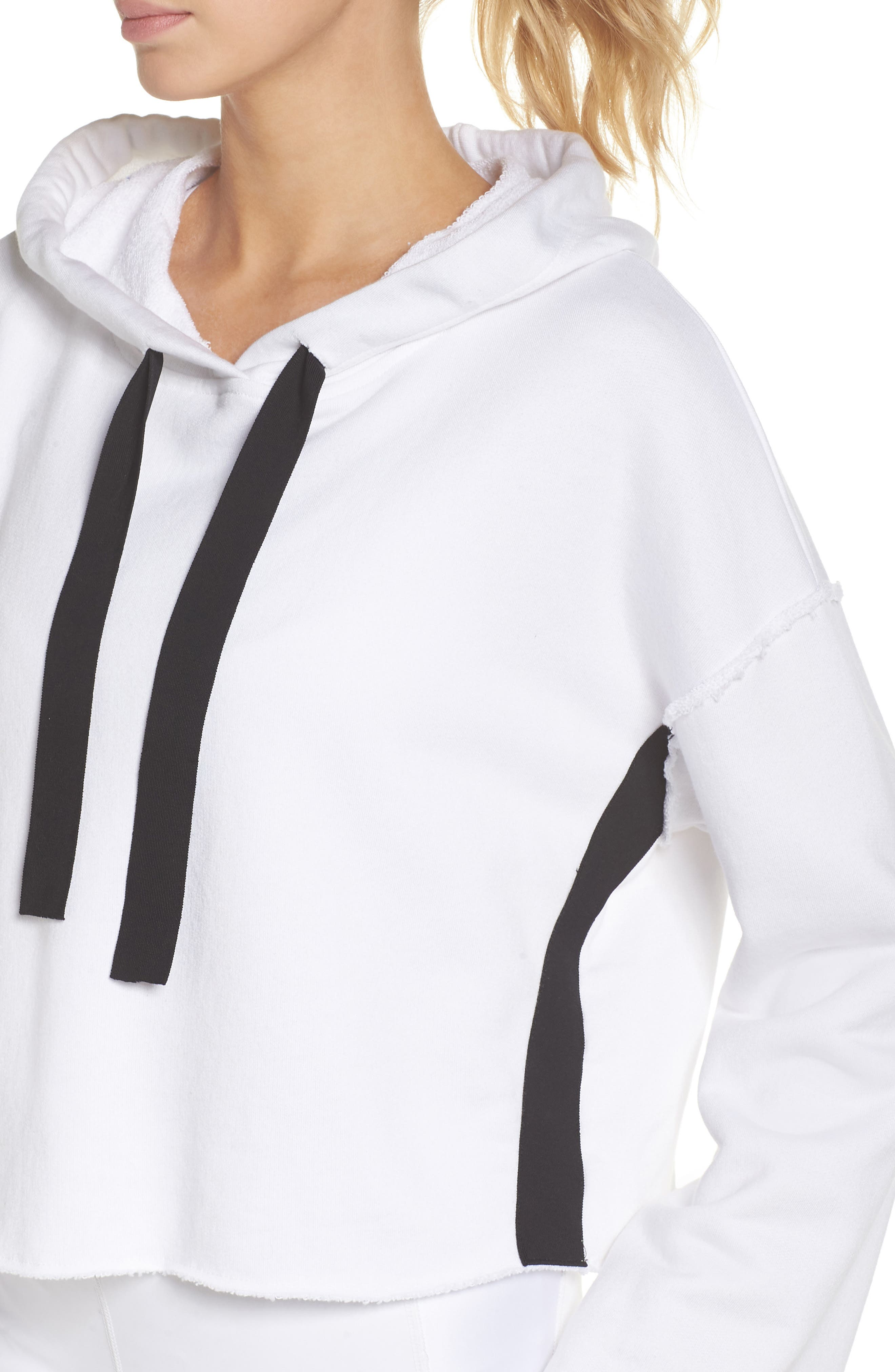 Stance Bell Sleeve Crop Hoodie,                             Alternate thumbnail 4, color,                             WHITE