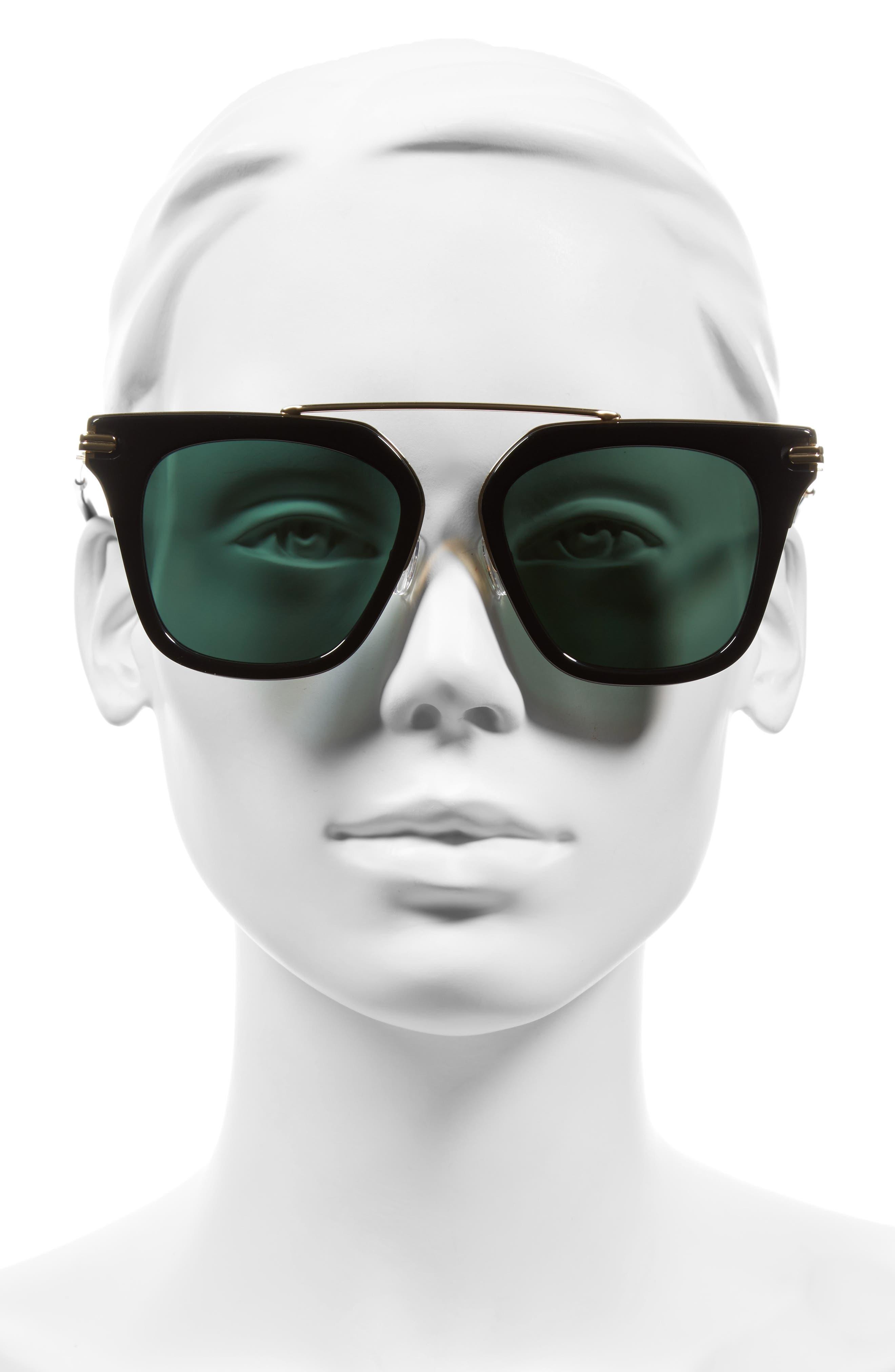 Parker 55mm Sunglasses,                             Alternate thumbnail 3, color,                             001
