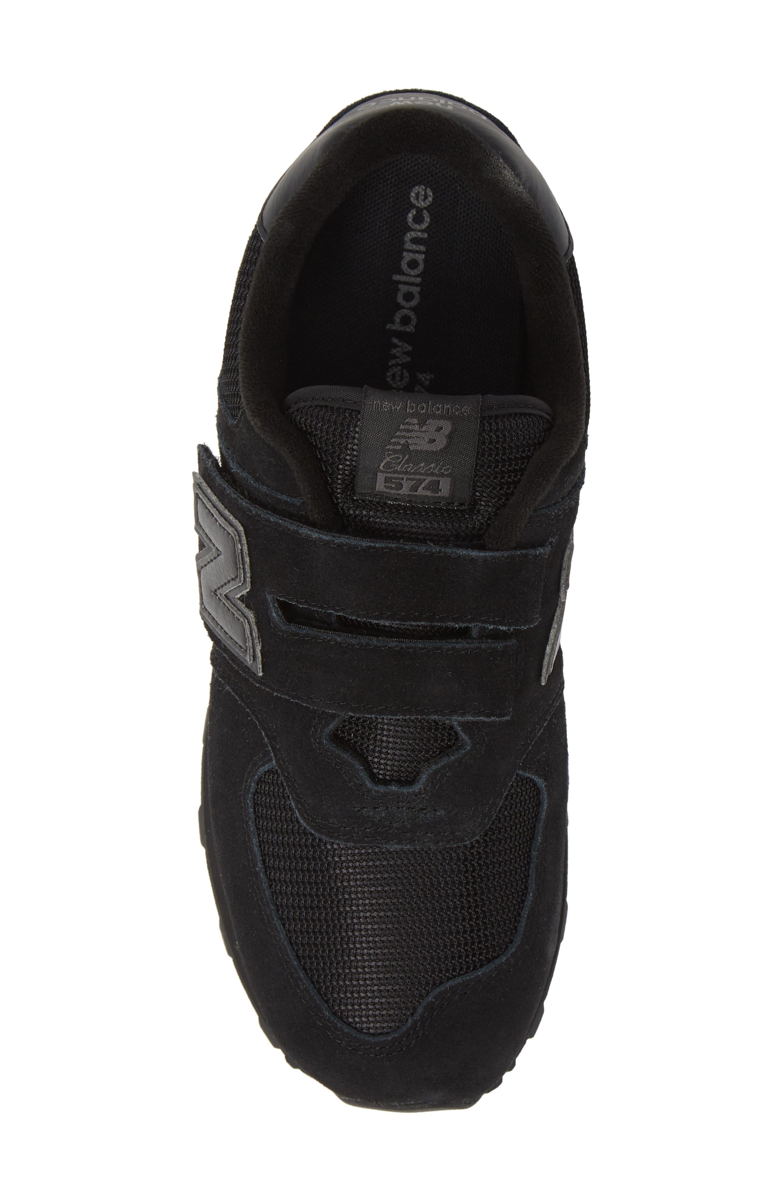 NEW BALANCE,                             574 Retro Surf Sneaker,                             Alternate thumbnail 5, color,                             BLACK/ BLACK
