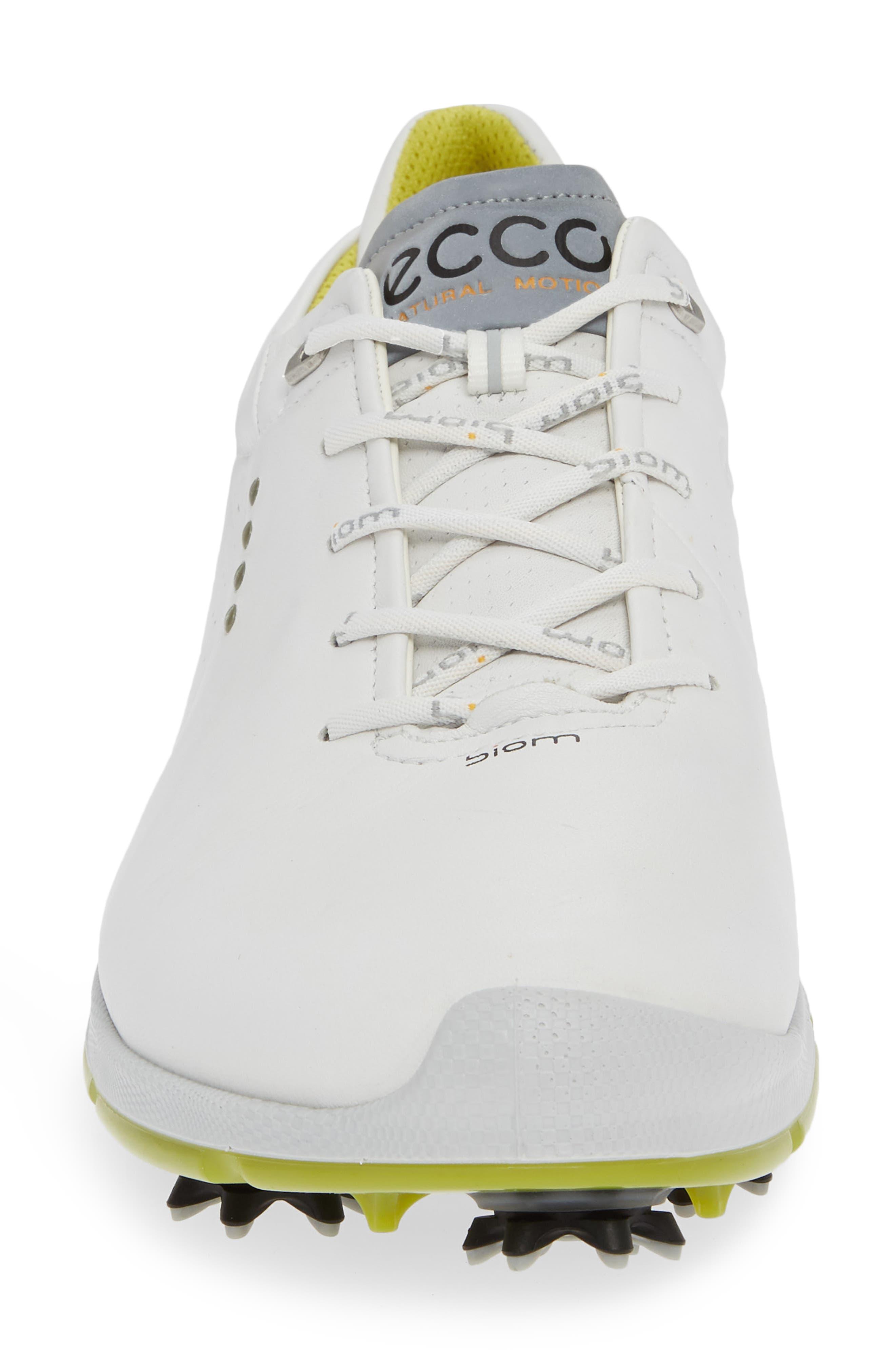 BIOM G 2 Free Gore-Tex<sup>®</sup> Golf Shoe,                             Alternate thumbnail 4, color,                             WHITE/ KIWI LEATHER