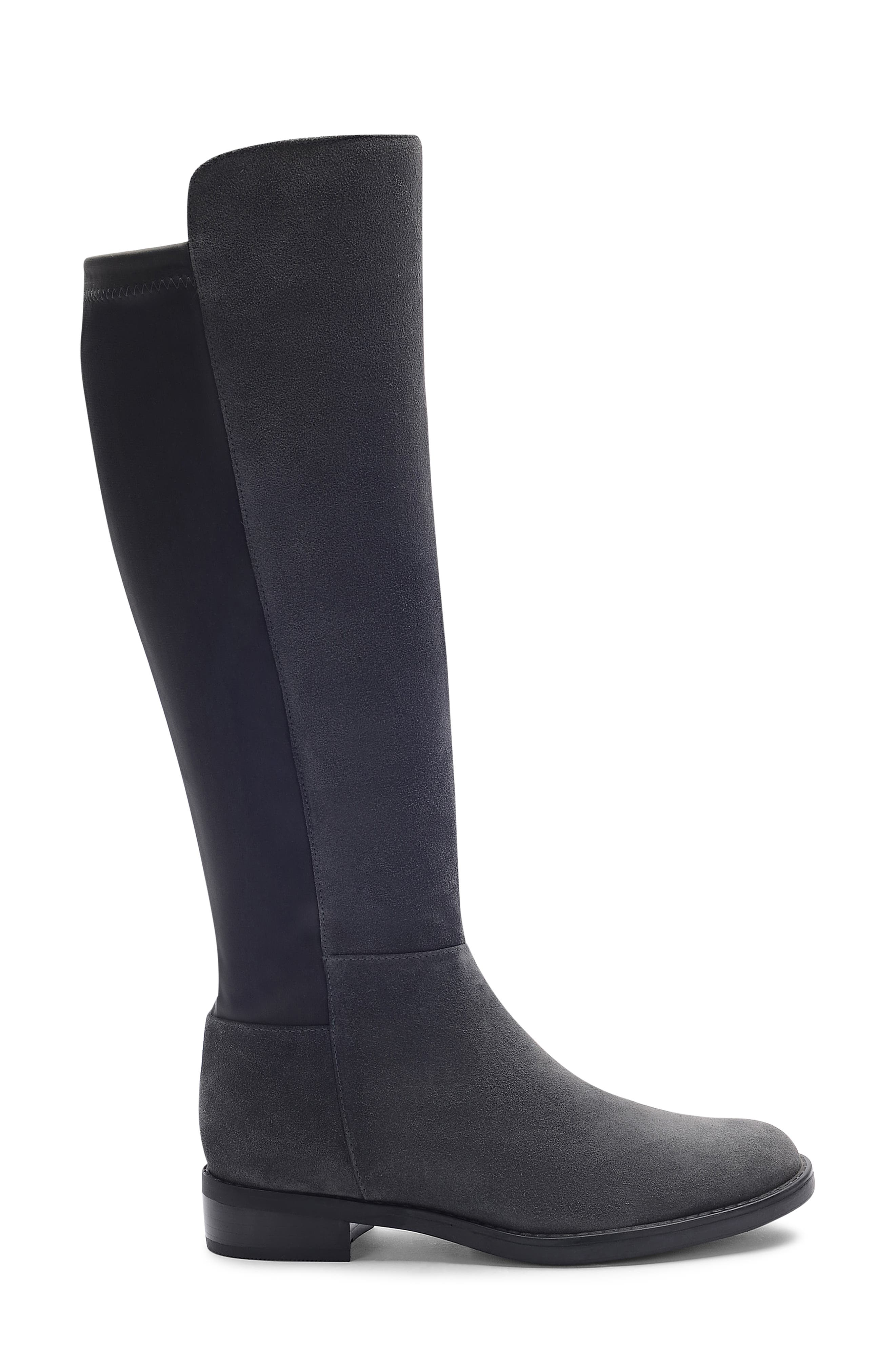 Ellie Waterproof Knee High Riding Boot,                             Alternate thumbnail 3, color,                             DARK GREY SUEDE