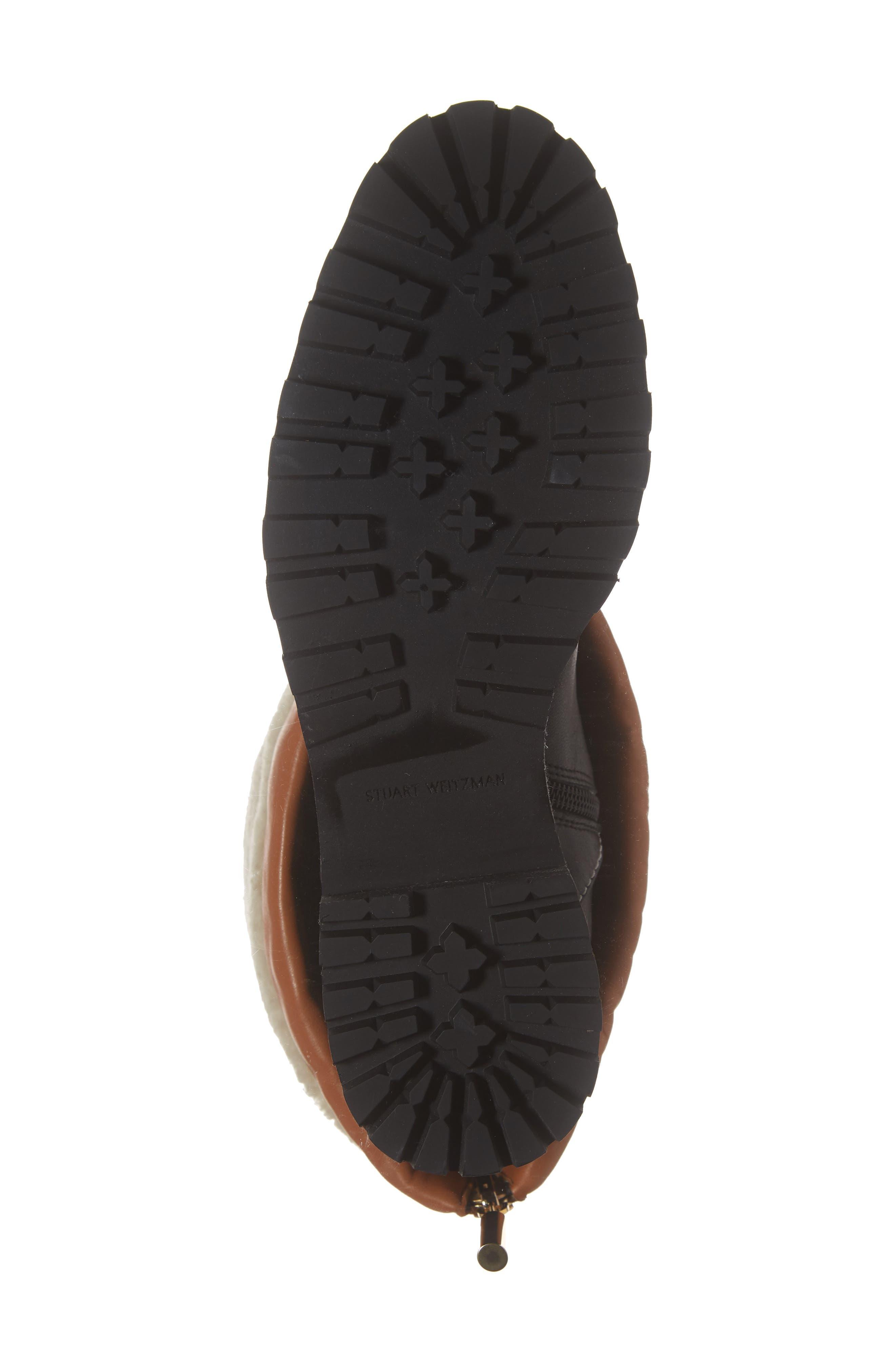 Renata Genuine Shearling Boot,                             Alternate thumbnail 7, color,                             BLACK ANDORRA