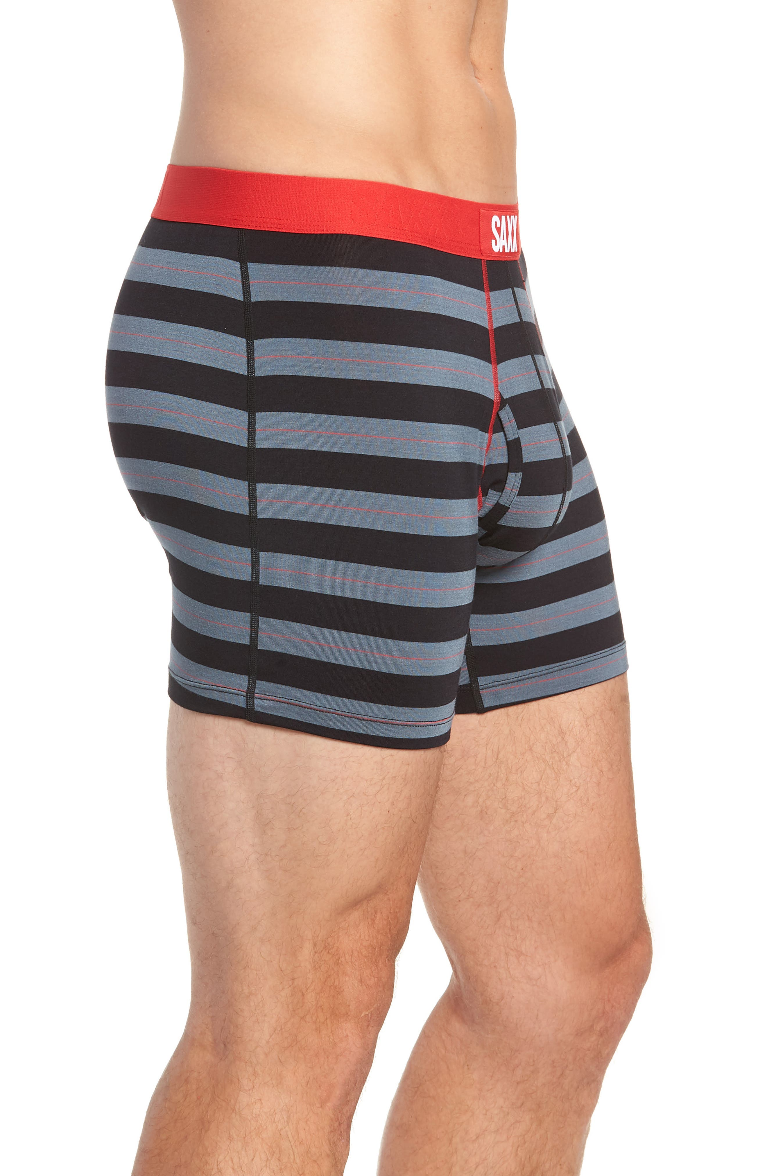 Ultra Holiday 3-Pack Stretch Boxer Briefs,                             Alternate thumbnail 4, color,                             BLACK/ RED MULTI