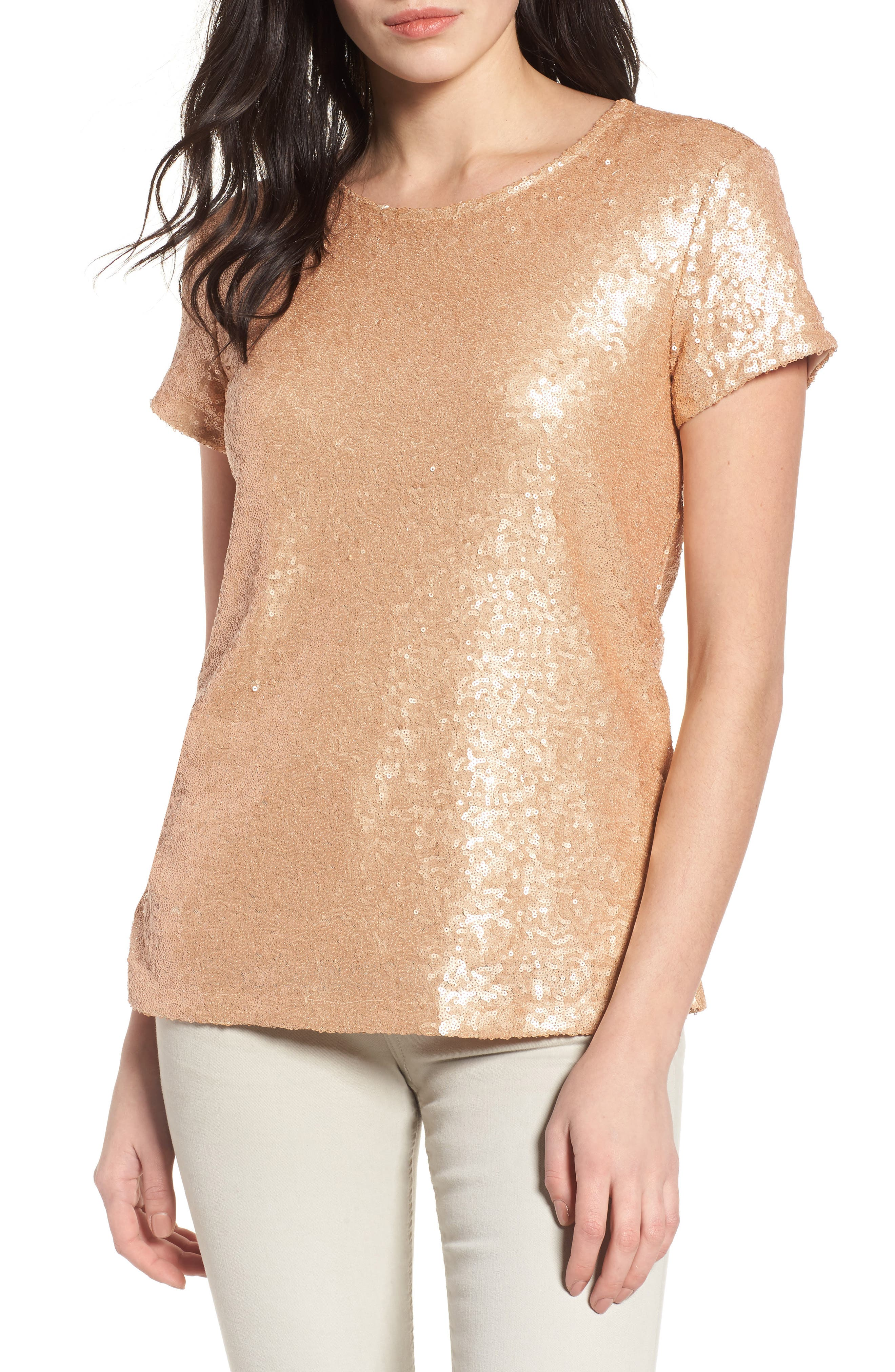 V-Back Sequin Top,                             Main thumbnail 3, color,