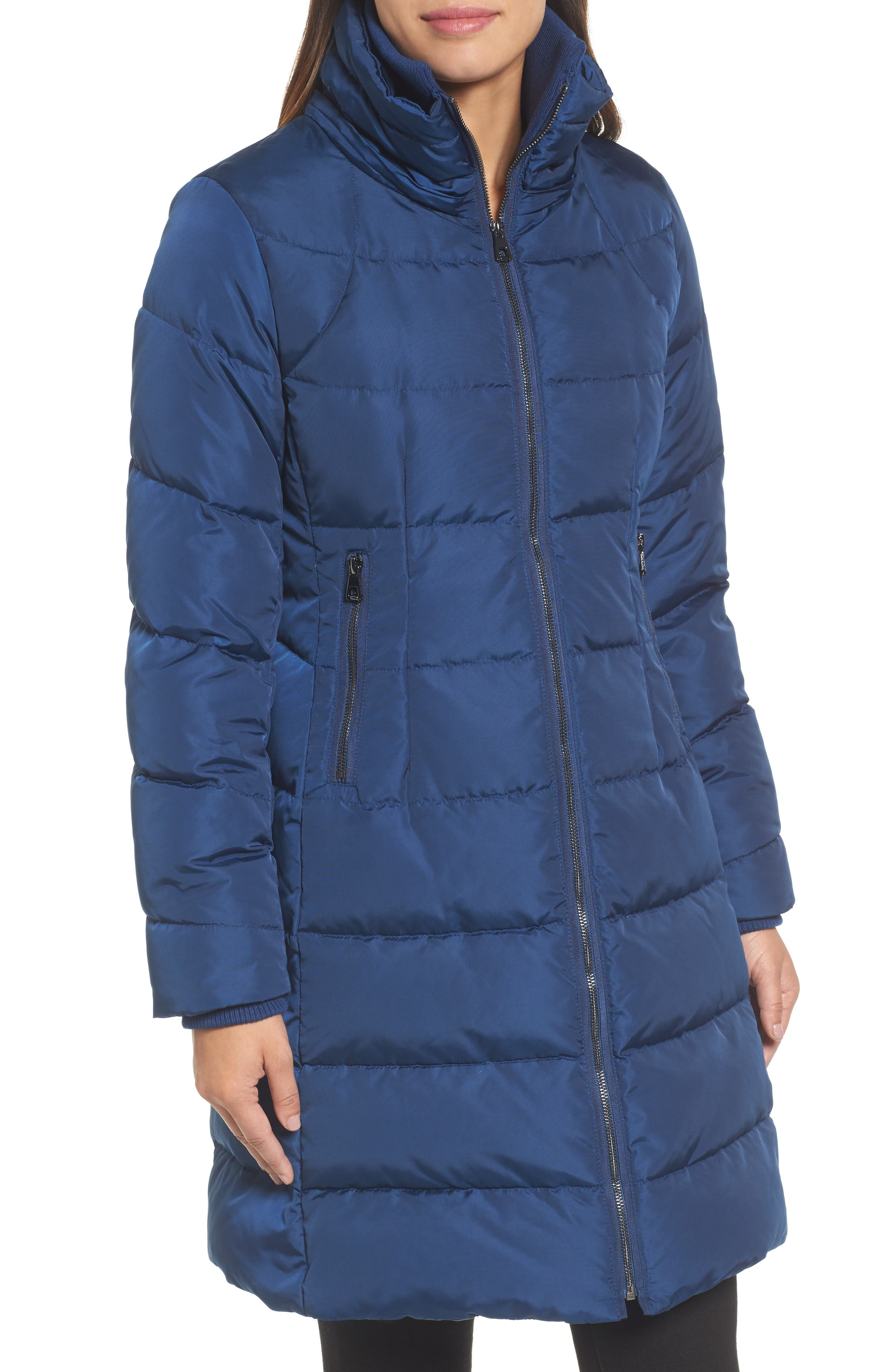 Down & Feather Fill Coat with Faux Fur Trim Hood,                             Alternate thumbnail 4, color,                             418