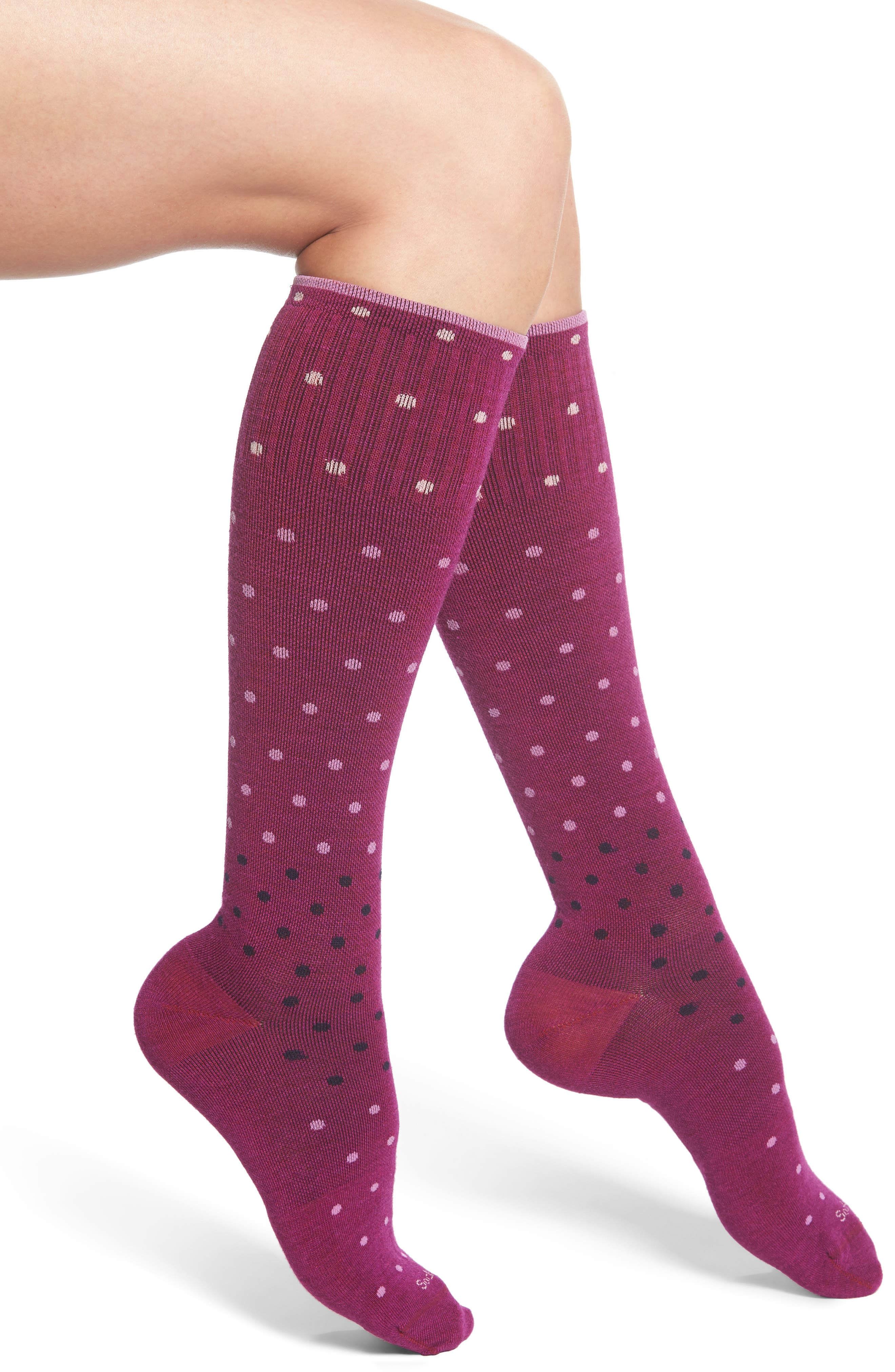 'Goodhew - On the Spot' Compression Knee Socks,                             Main thumbnail 1, color,                             510
