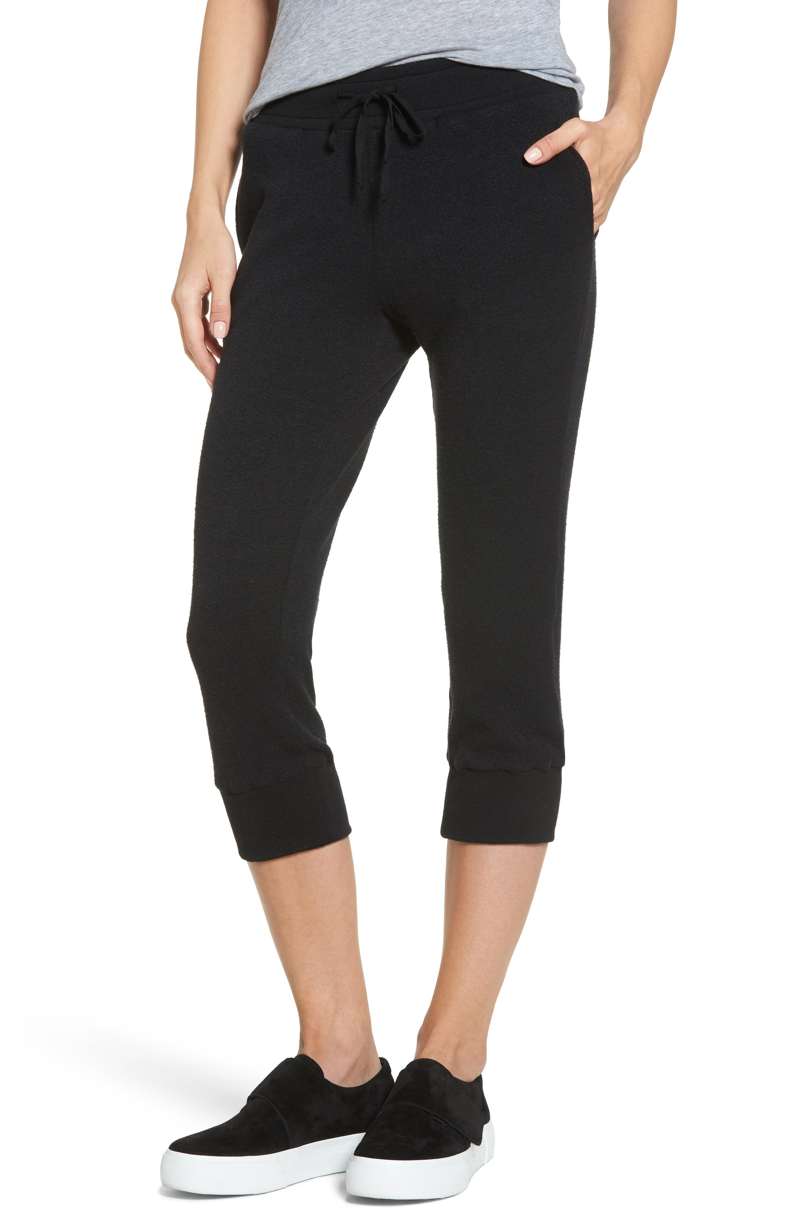 Flint Fleece Crop Jogger Pants,                         Main,                         color, 001