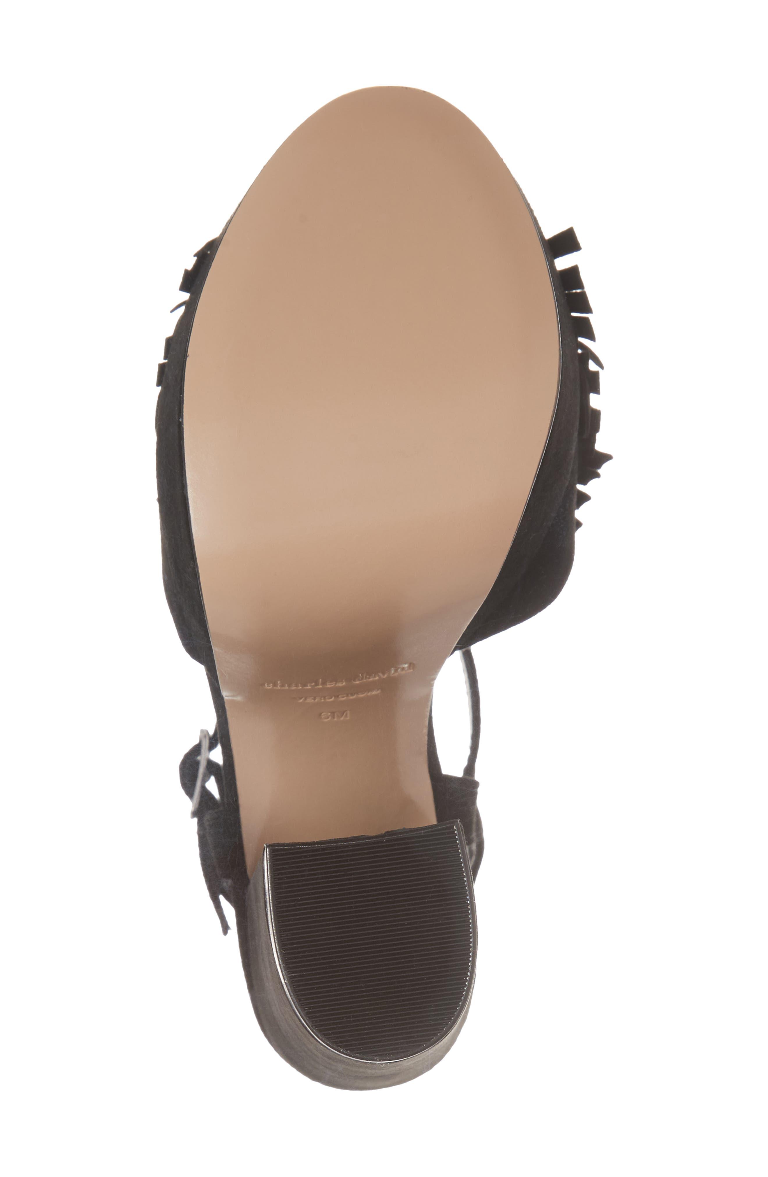 Royale Sandal,                             Alternate thumbnail 6, color,                             BLACK SUEDE