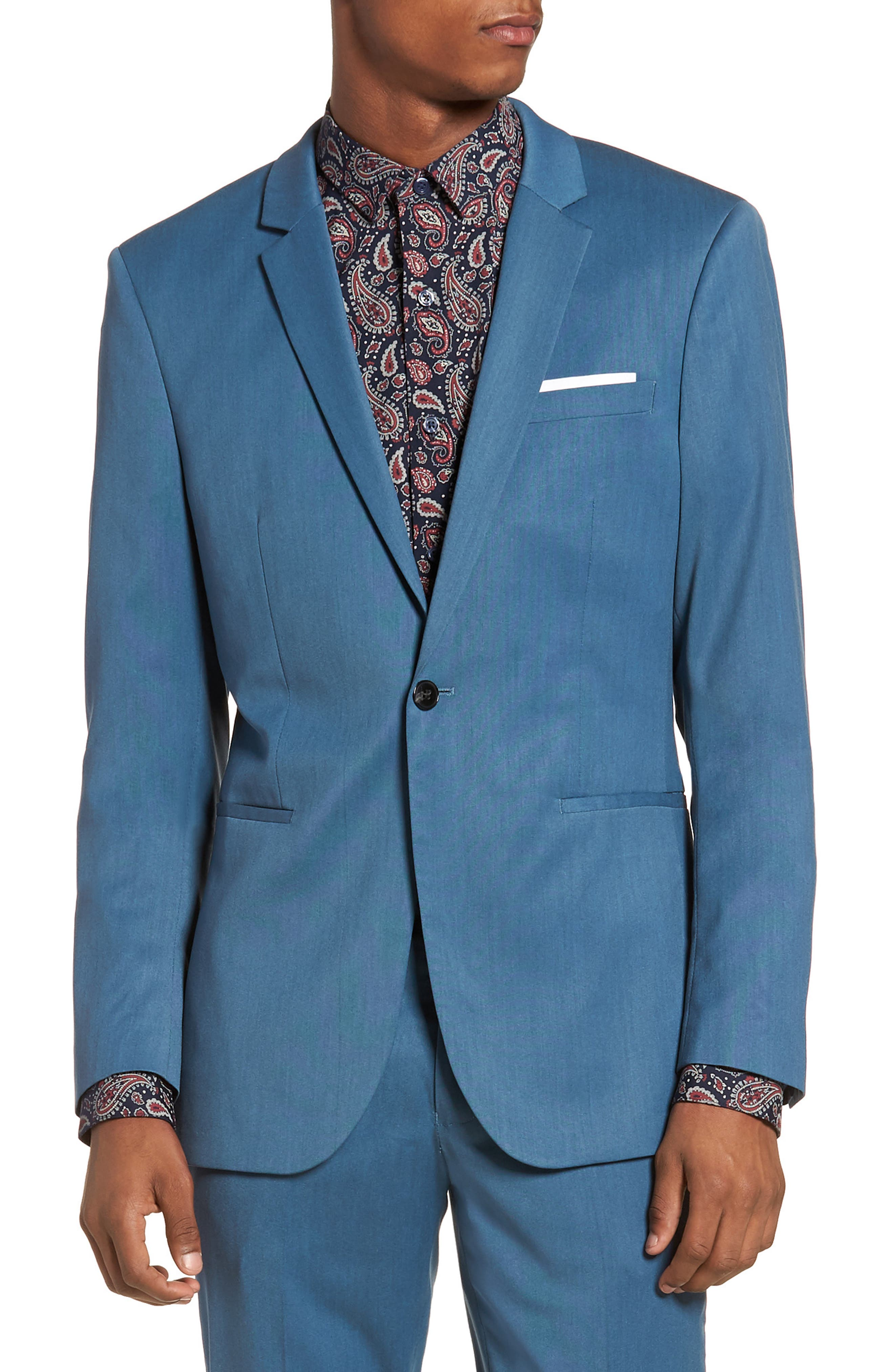 Skinny Fit Suit Jacket,                             Main thumbnail 1, color,                             450