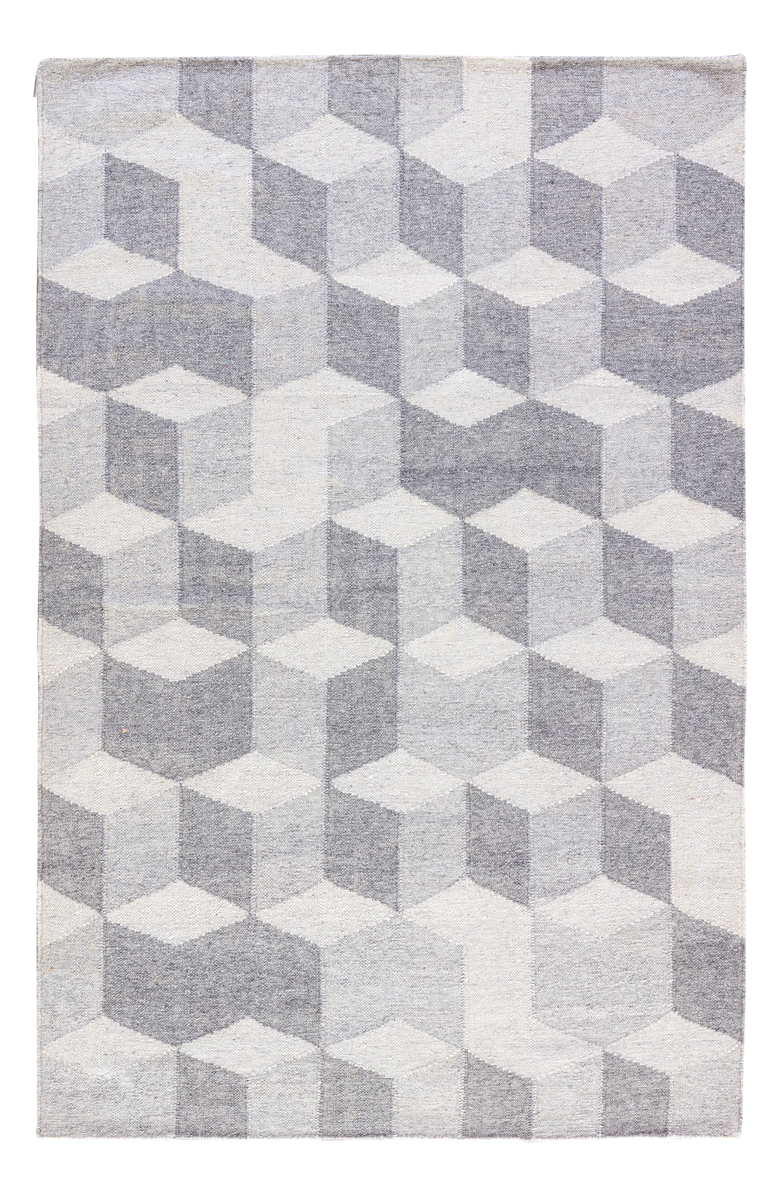 Pyramid Blocks Rug,                             Main thumbnail 4, color,