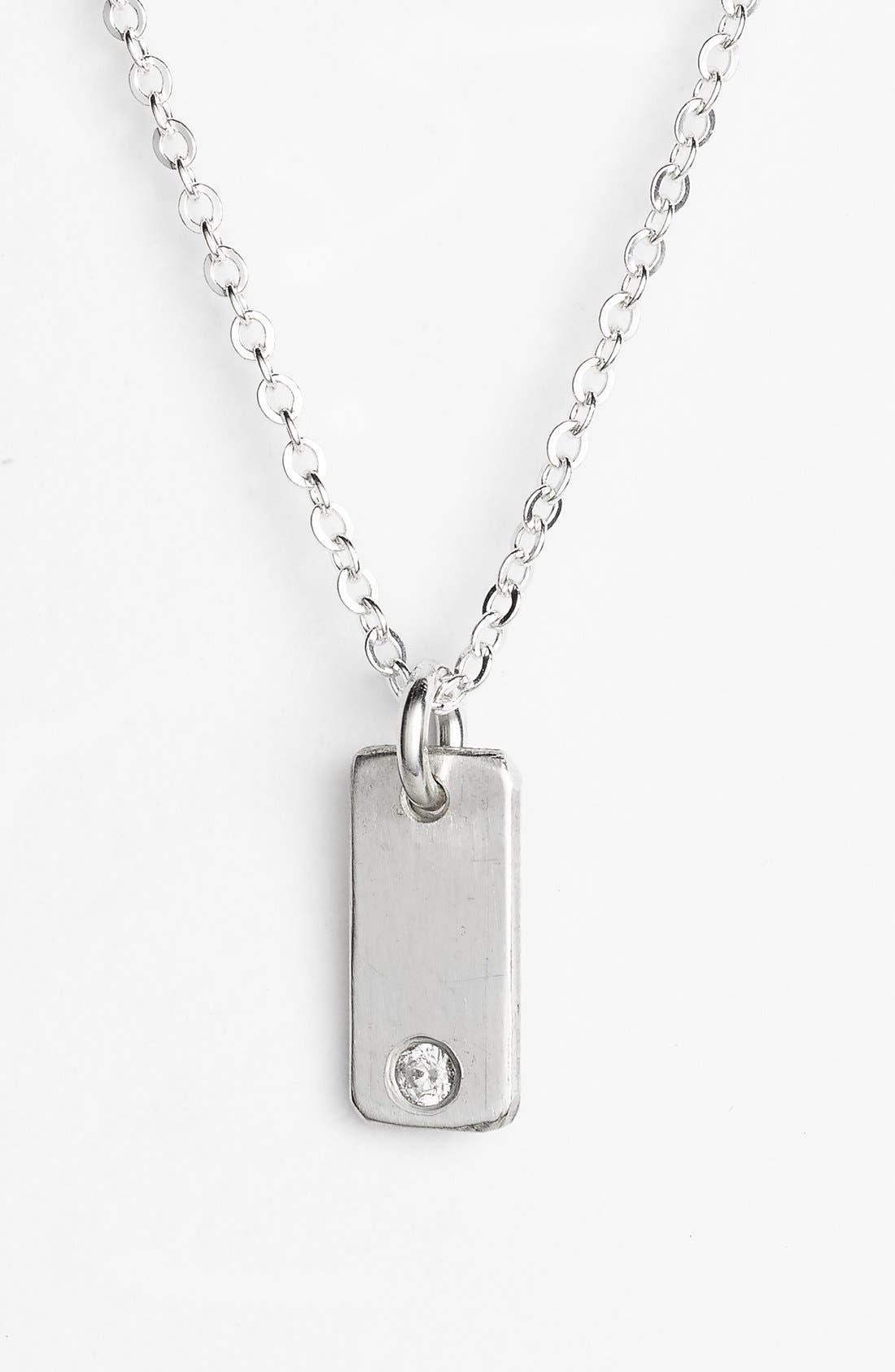 Diamond Bar Pendant Necklace,                             Main thumbnail 1, color,                             040