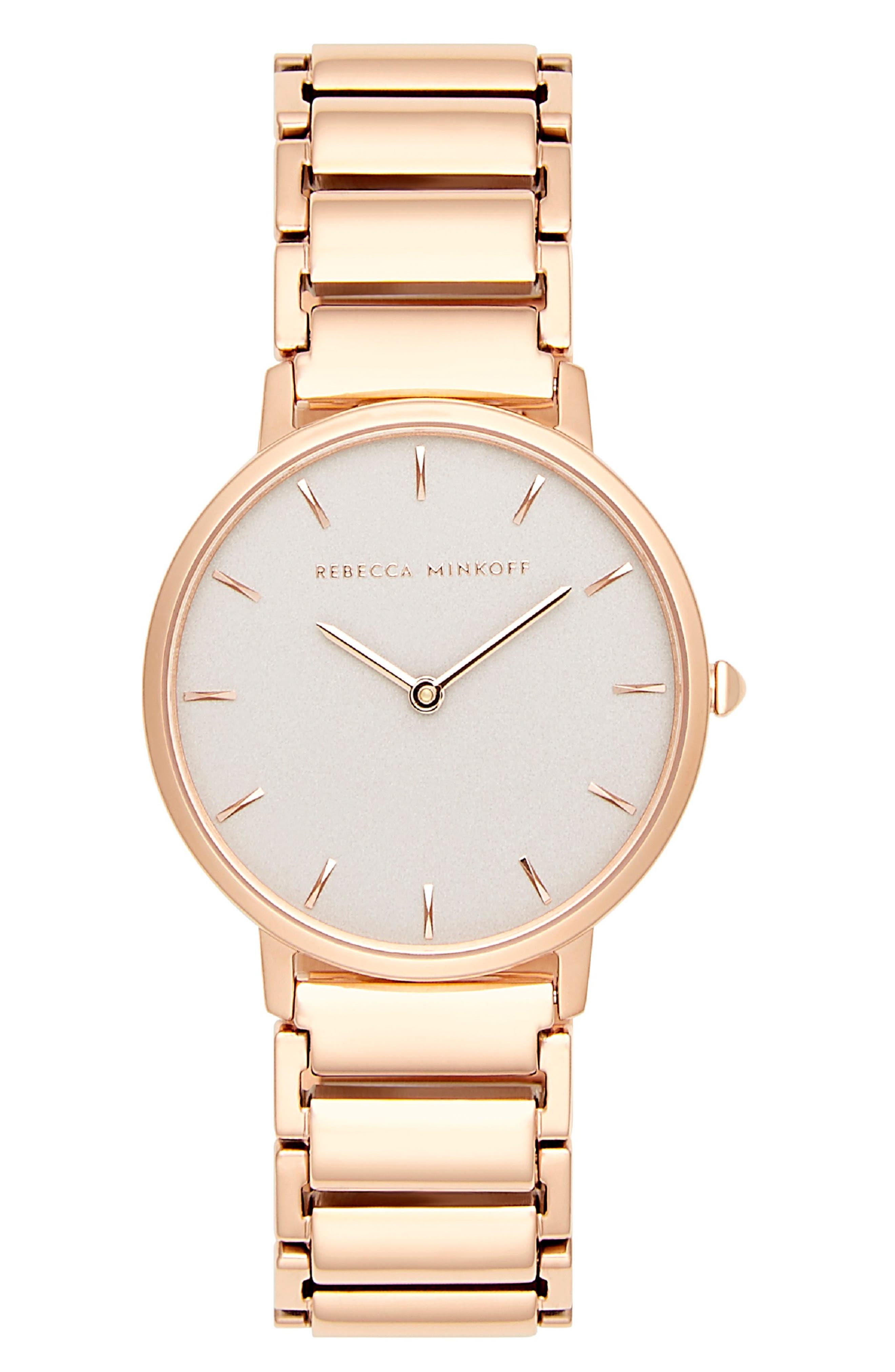 Major Bracelet Watch, 35mm,                             Main thumbnail 1, color,                             ROSE GOLD/ GREY / ROSE GOLD